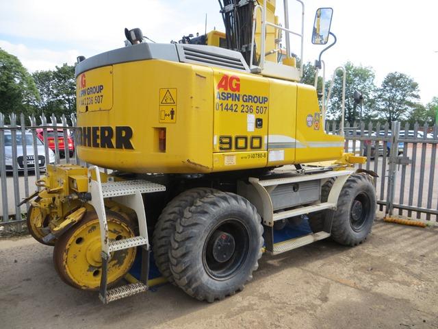 Liebherr A900c Zw Road    Rail Excavator S  N 364  2013  Running Hours Approx 2 500  On