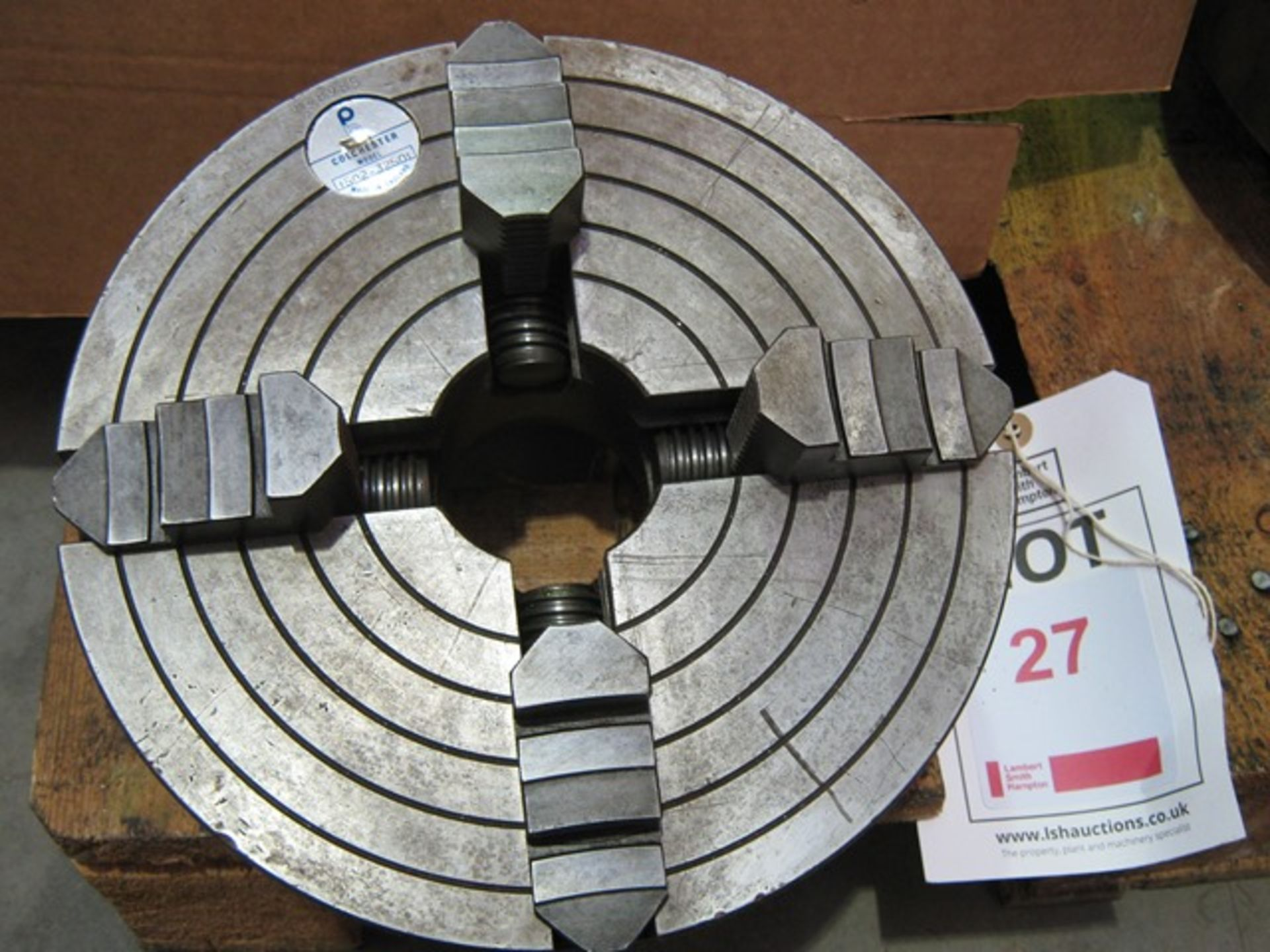 "Lot 27 - Colchester 4 jaw chuck, 10"" diameter D1-4"