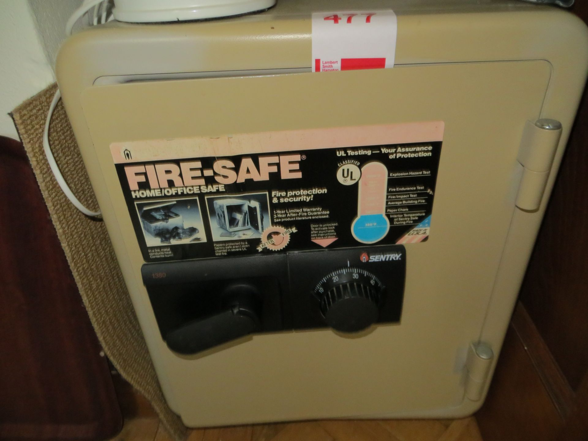 Lot 477 - Sentry home/office fire combination safe
