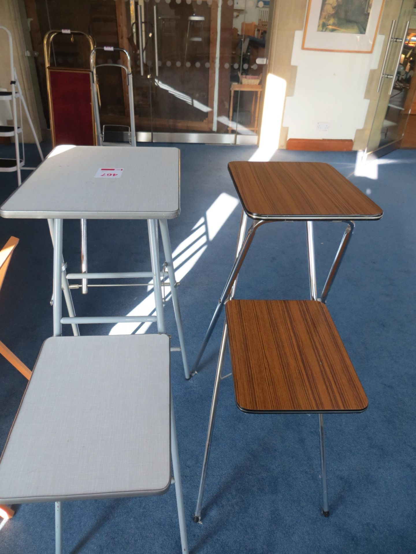Lot 467 - Two folding 2 section projector tables