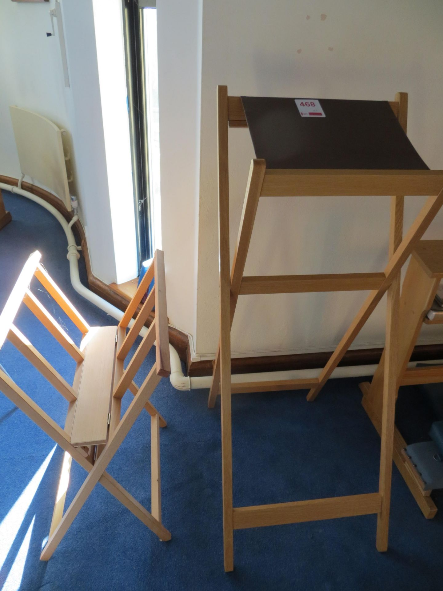 Lot 468 - Folding Newspaper stand & folding reading table