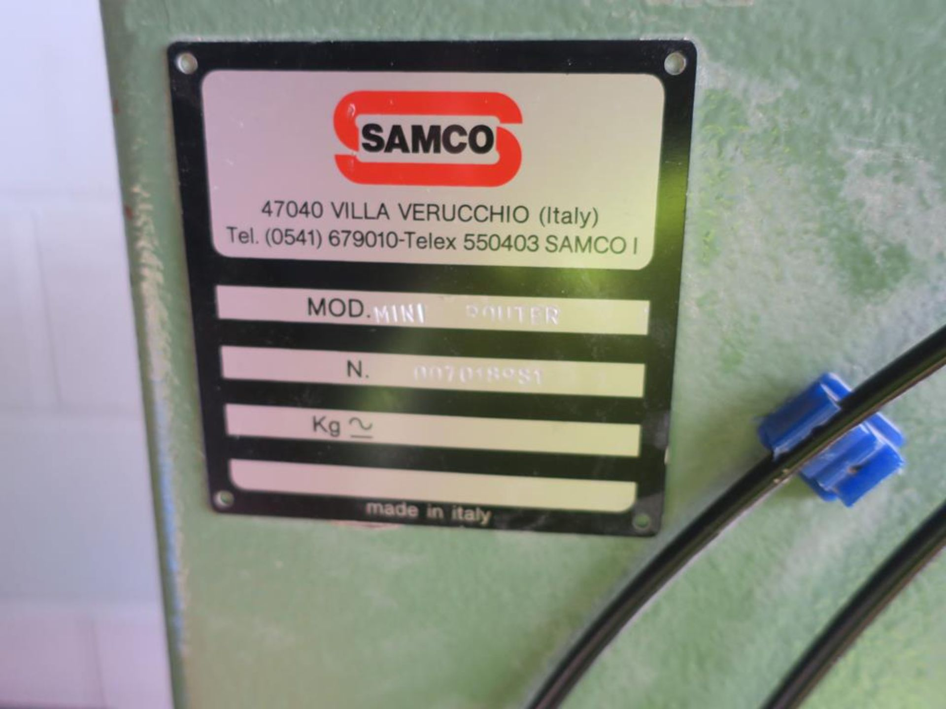 Lot 17 - * A Samco mini SCM Router S/N 007018951 3PH. Please note there is a £10 Plus VAT Lift Out Fee on