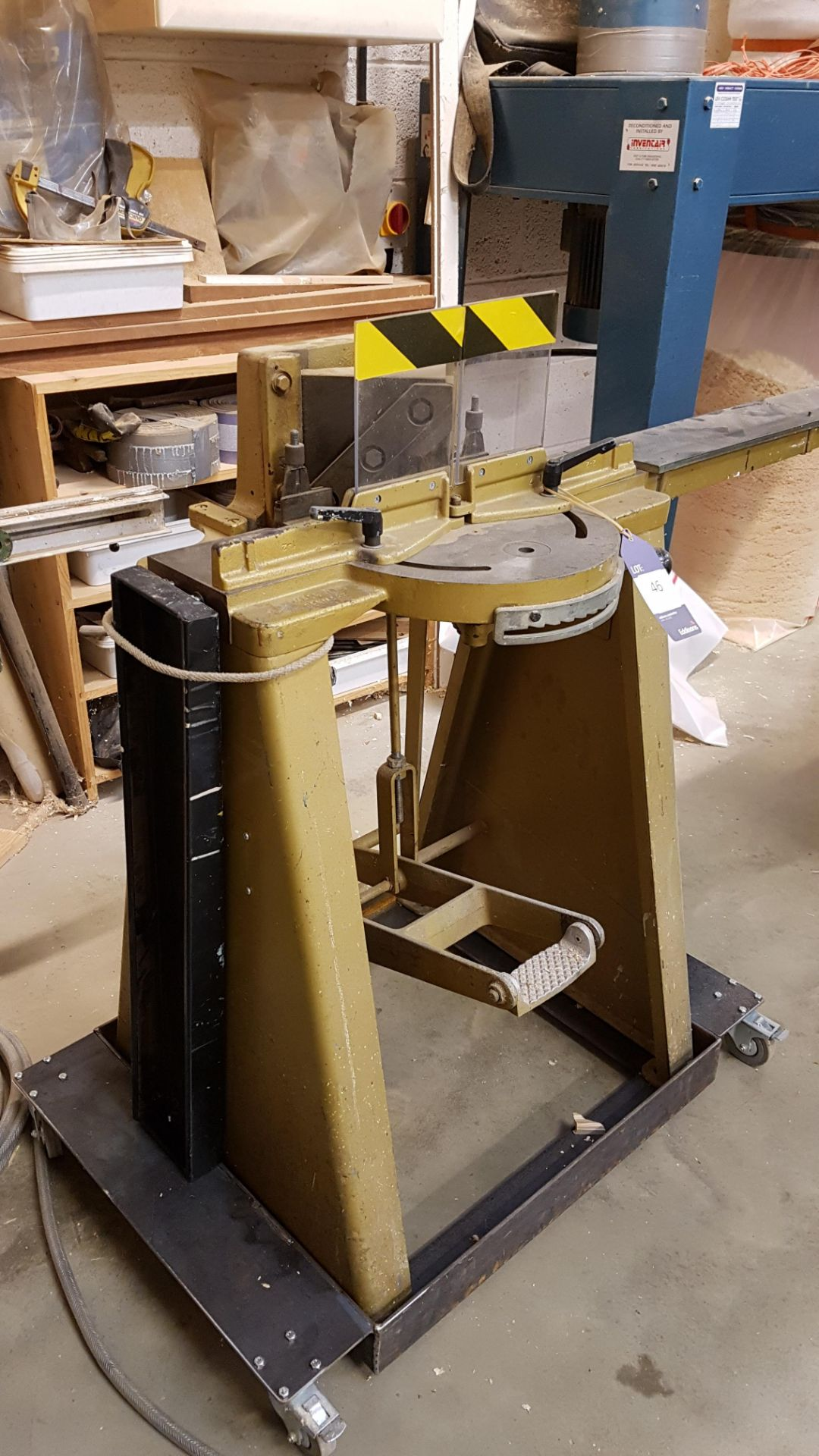 Lot 46 - * Treadle Operated Mitre Cutter A Treadle Opereated Manual Mitre Cutter - Make Unknown. Please