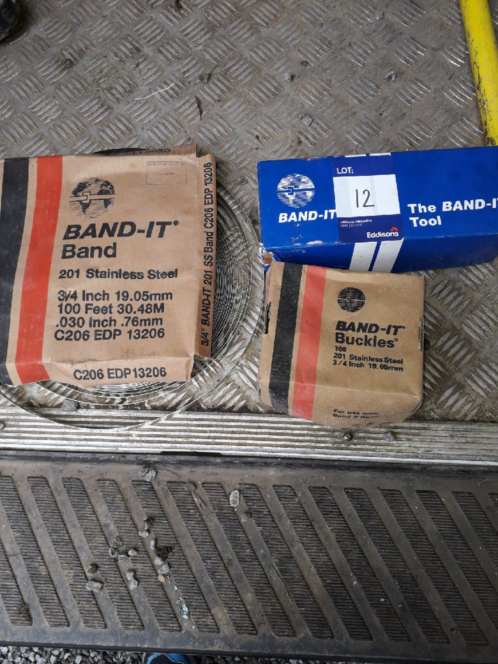 Lot 12 - 3 x Band-It items consisting of The Band-It tool, Band-It buckles, Band-It Band