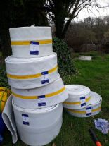 Lot 5 - 6 x Drain/Pipe liners – various sizes. (Please note: Viewing is by appointment only. Please Tel: