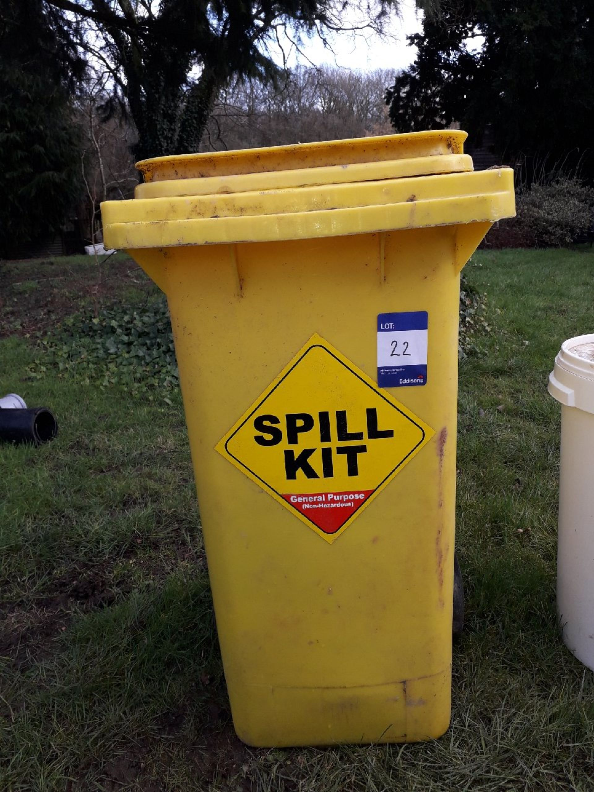 Lot 22 - Wheelie bin general purpose (non hazardous) spill kit. (Please note: Viewing is by appointment only.