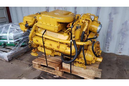 Caterpillar 3208 Marine Diesel Engine and Gearbox  A
