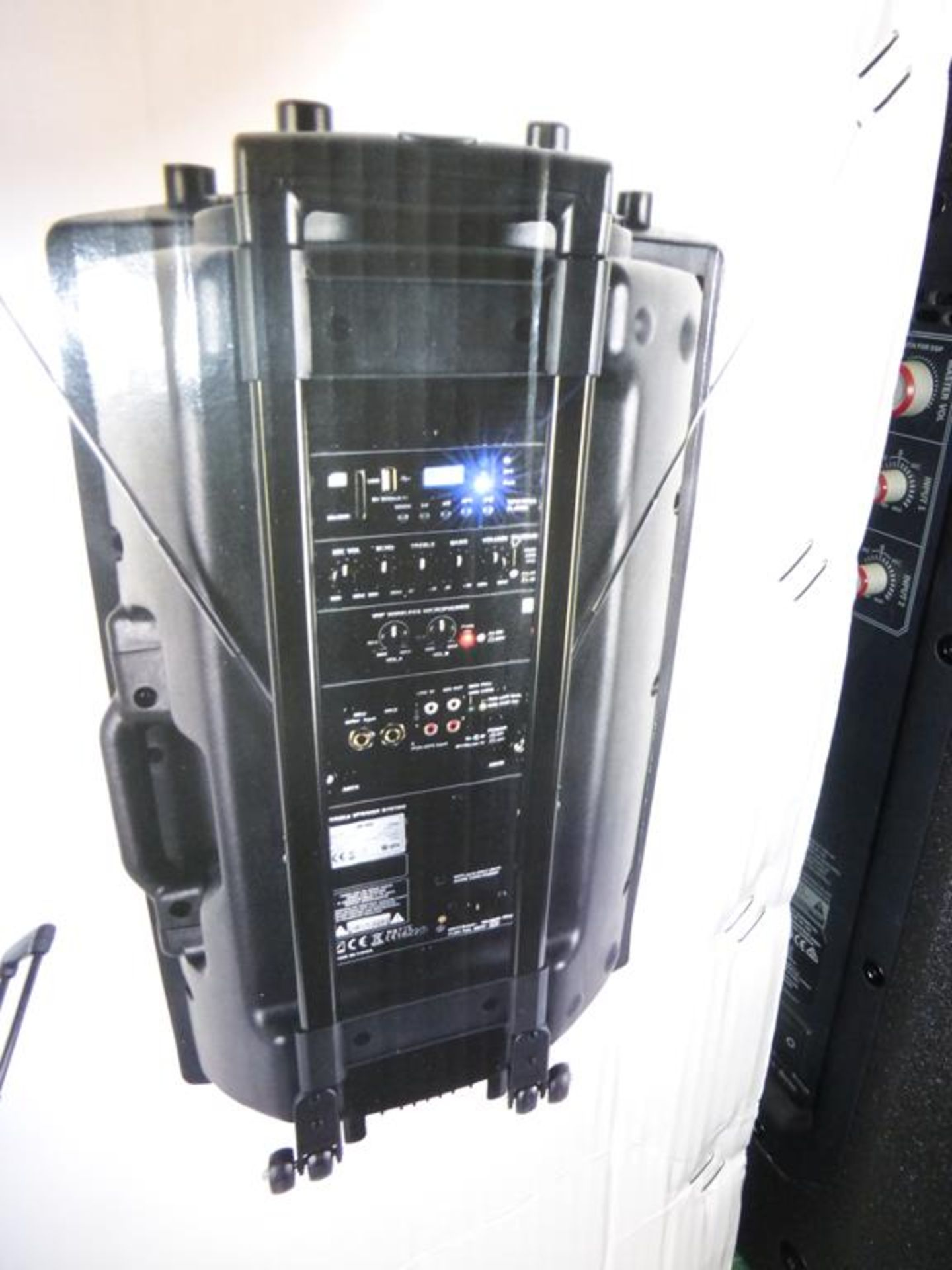 Lot 18 - * QTX Portable Powered PA Unit with 15'' Speakers, RRP £181