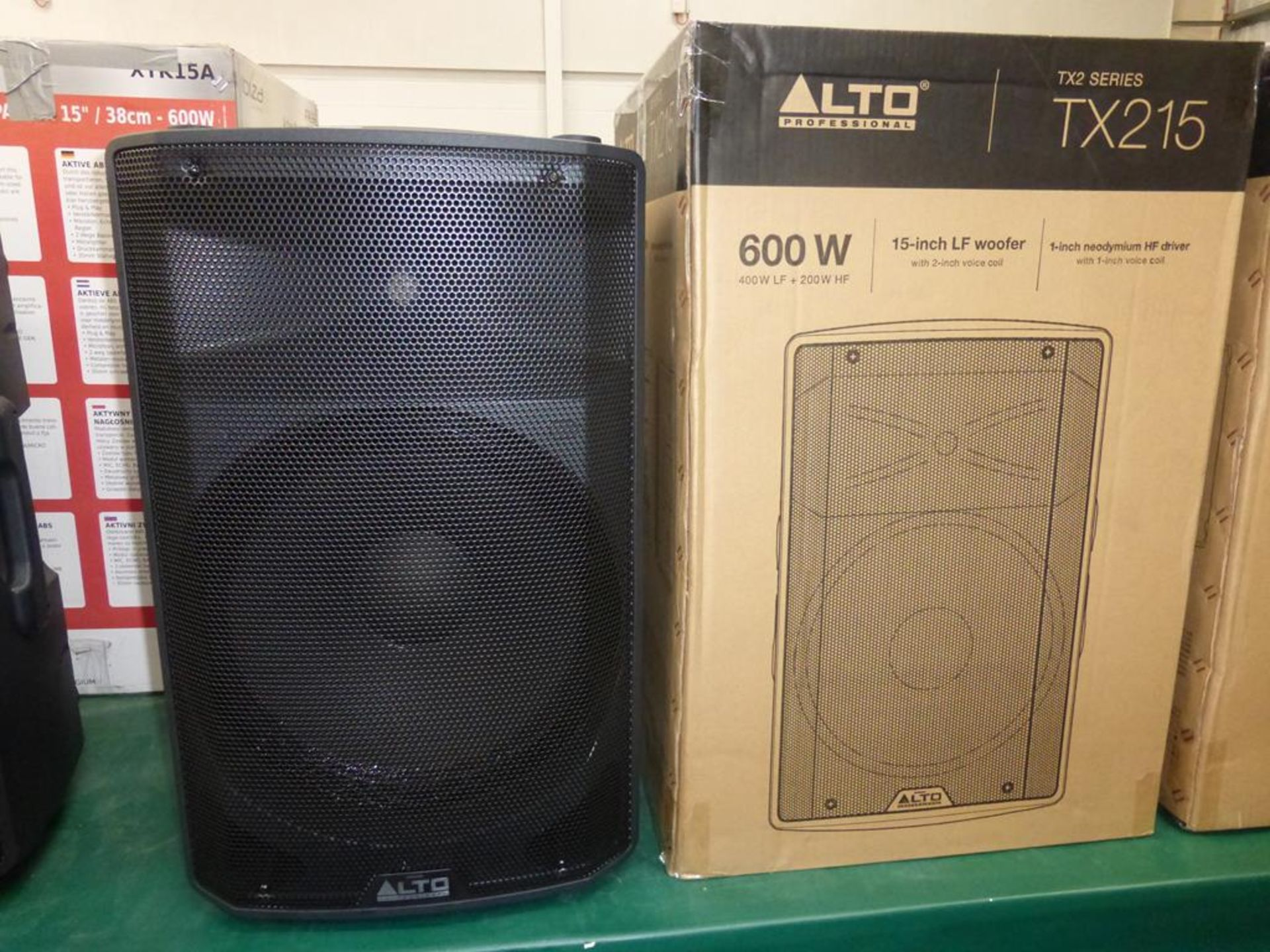 Lot 8 - * 2 x Alto Professional TX215 600W 15'' 2-way powered Loudspeaker, s/n (21) UT181118103121 (RRP £171