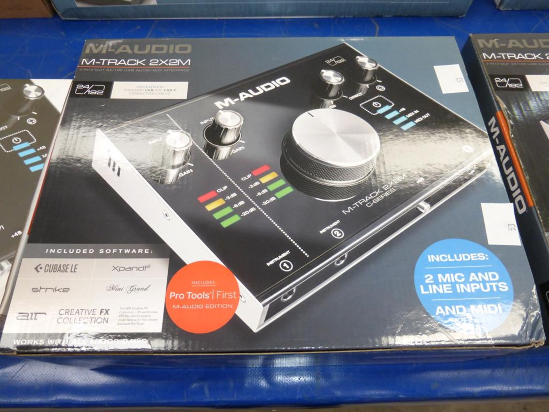 Lot 53 - * An M-Audio M-Track 2 X 2m Audio/Midi Interface with software (RRP £99)