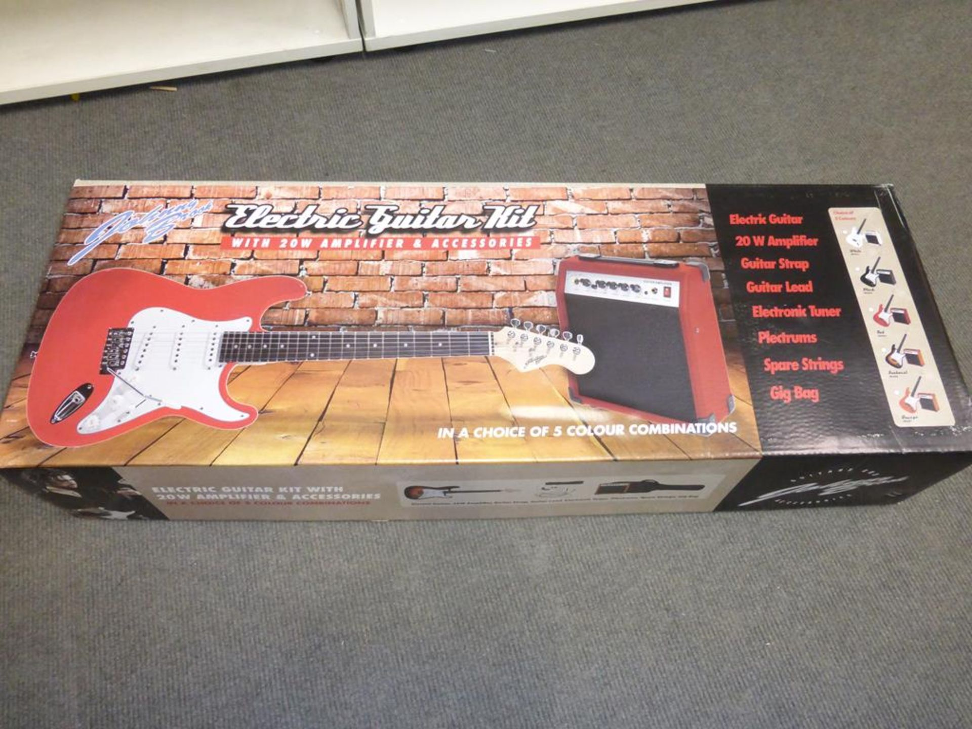 Lot 37 - * A Johnny Brook Guitar Kit with 20W Amplifier and Accessories (RRP £88.99) (Colour White)