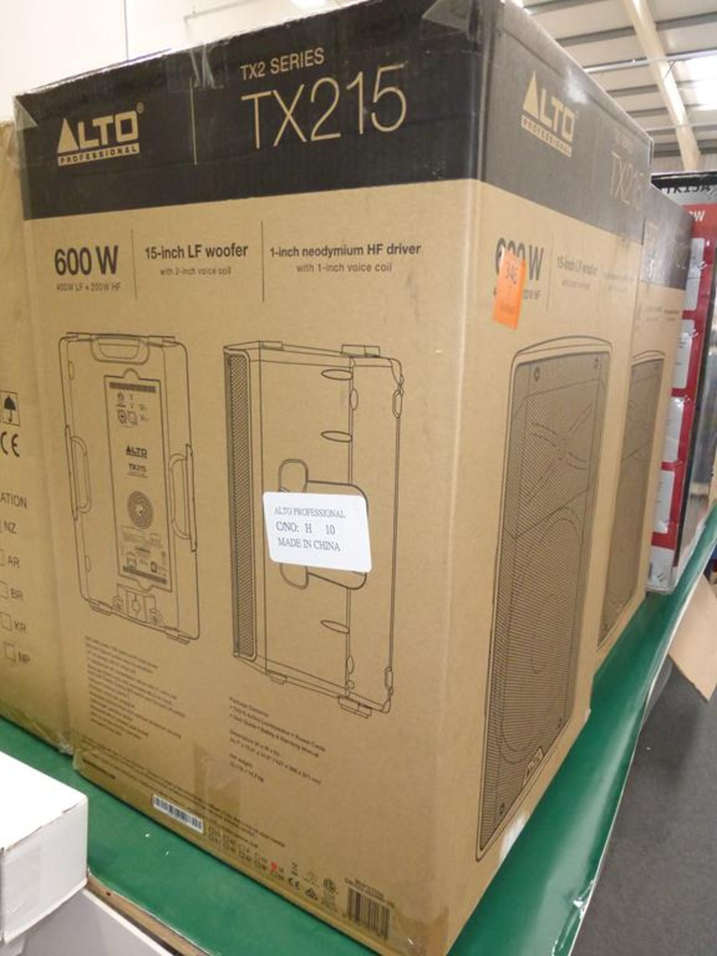 Lot 11 - * Alto Professional TX2 Series TX215 600W 15'' LF Woofer with 2'' voice coil Speaker, RRP £183