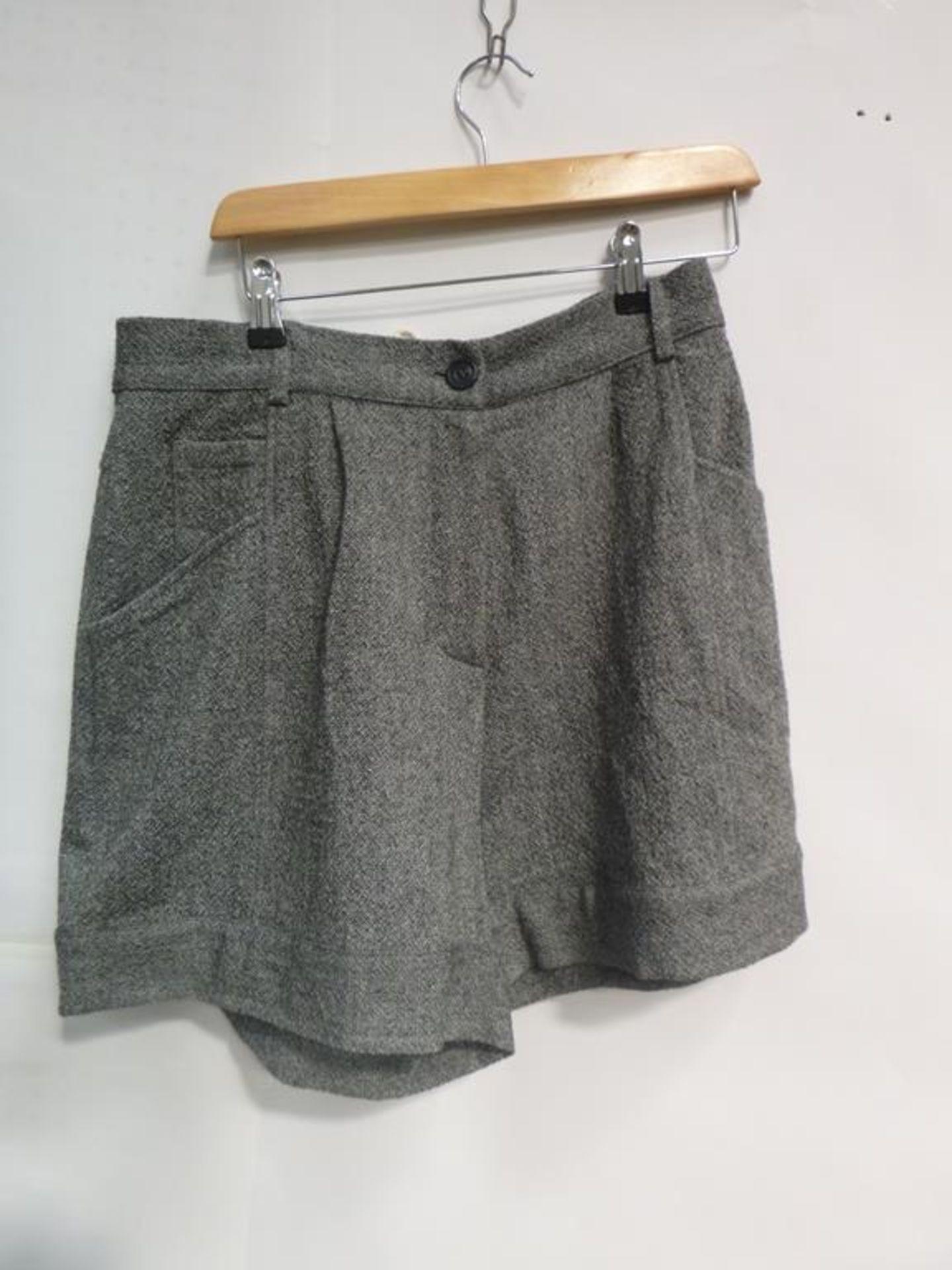 Lot 721 - Two Aesop Wool Grey Shorts (L), Herringbone Grey Trousers (L), Bender Cheek Trouser Skirt (M) and Pu