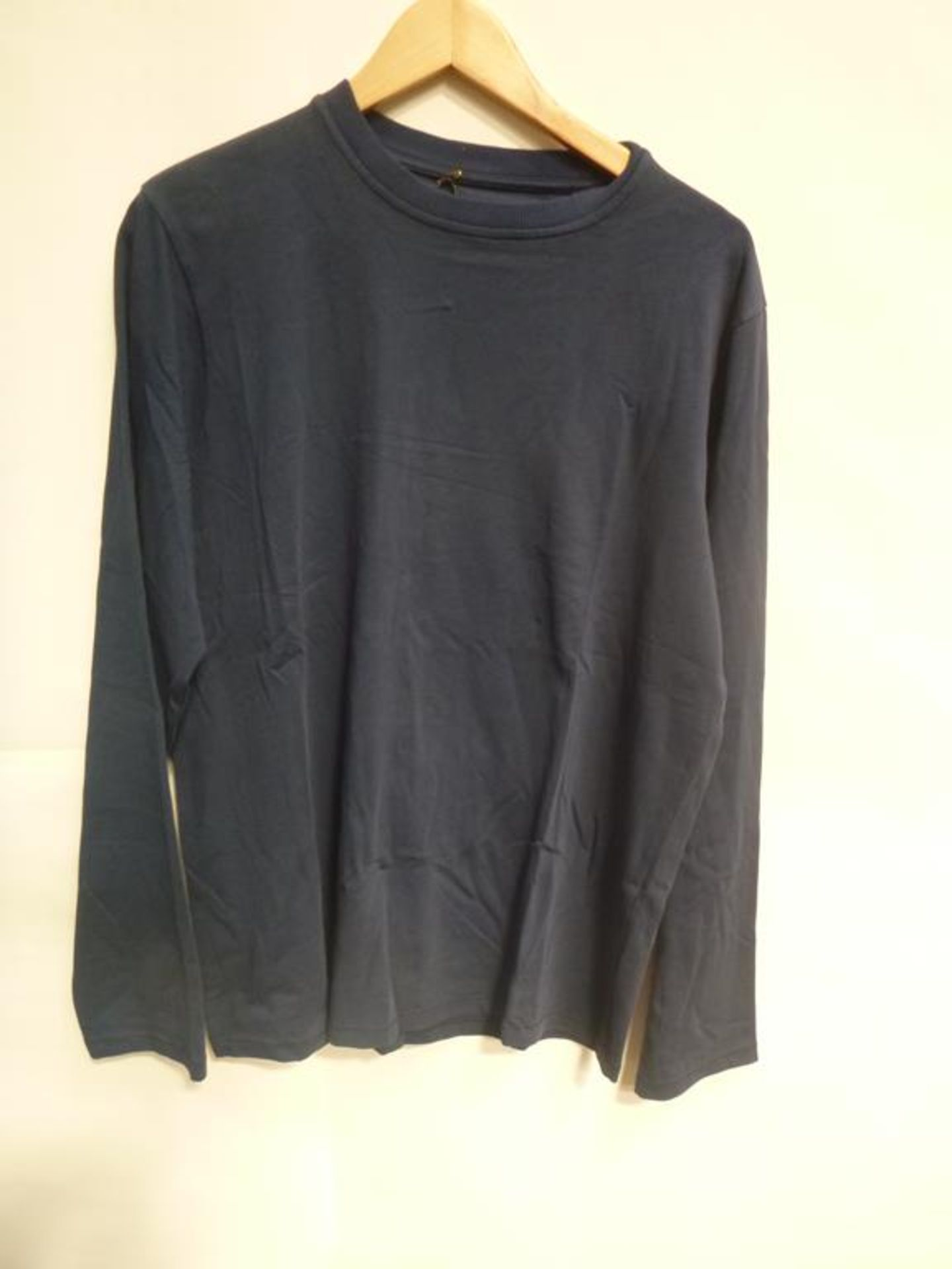 Lot 720 - Three Navy Short Sleeve T-Shirts (2 XS, S), Two Navy Long Sleeve T-Shirts (XS, M), Celia Crew Linen