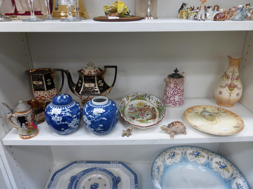 Lot 1218 - This is a Timed Online Auction on Bidspotter.co.uk, Click here to bid. A shelf containing a Crown