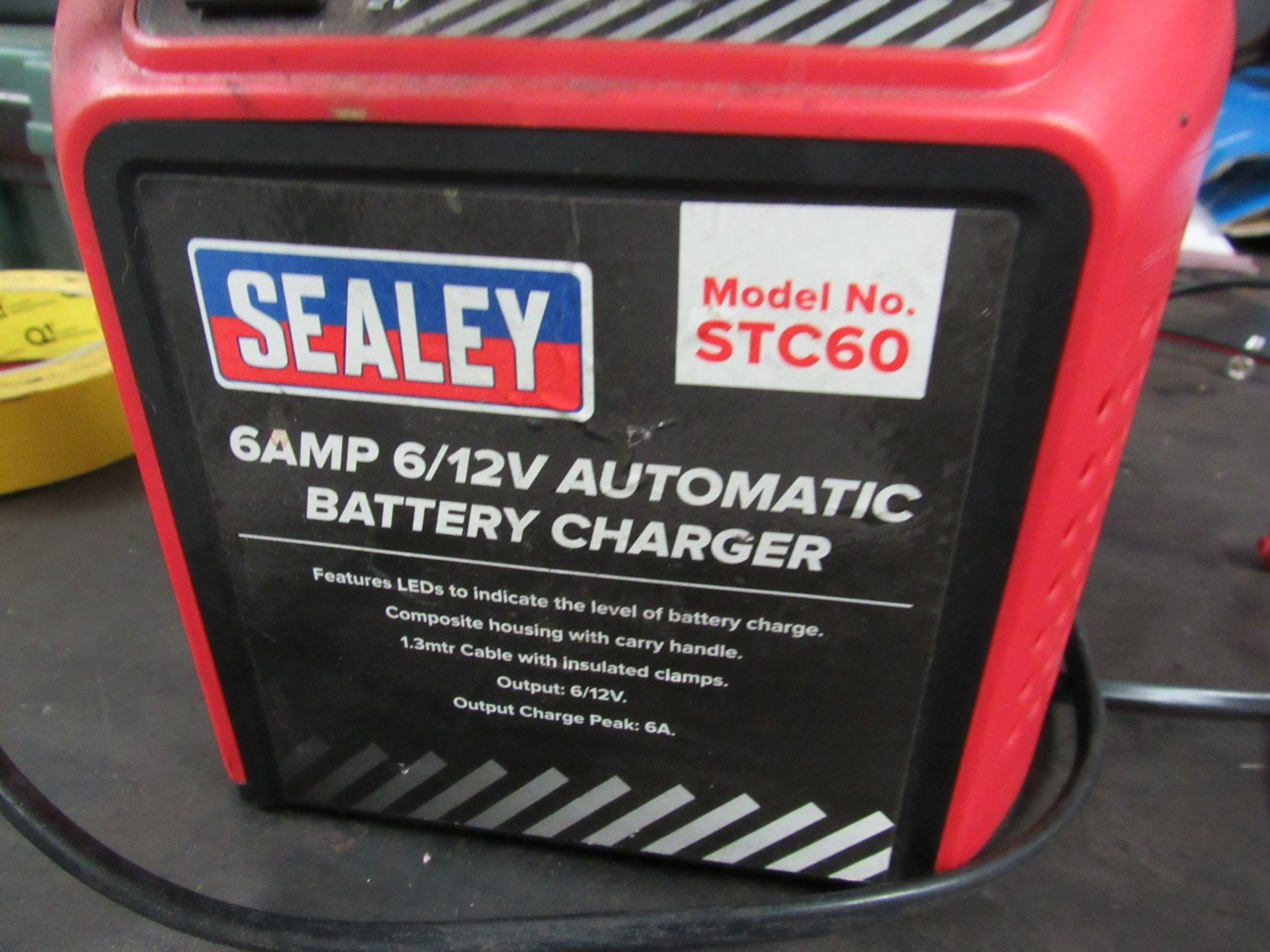 Lot 54 - Sealey STC60 6AMP 6/12v Automatic Battery Charger (Located at Unit 11)