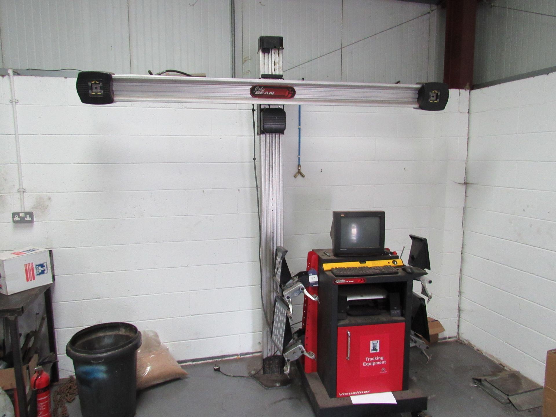 Lot 57 - John Bean Visualiner Tracking System/Wheel Aligner, Model EEWA544A (Located at Unit 11)