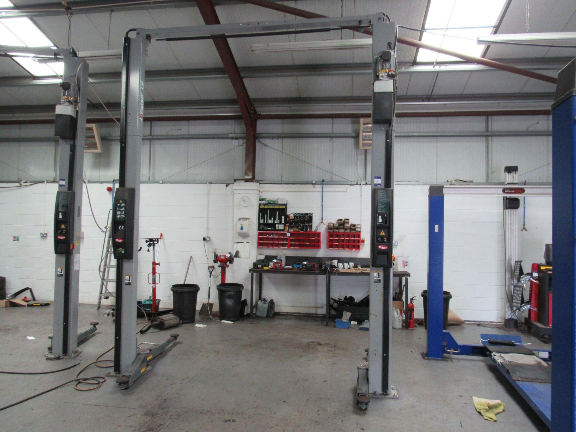Lot 40 - Rotary Asymmetric Electro-Hydraulic Base SpoA3TUK – APWG 2 Post Lift with 3500kg Lifting Capacity,