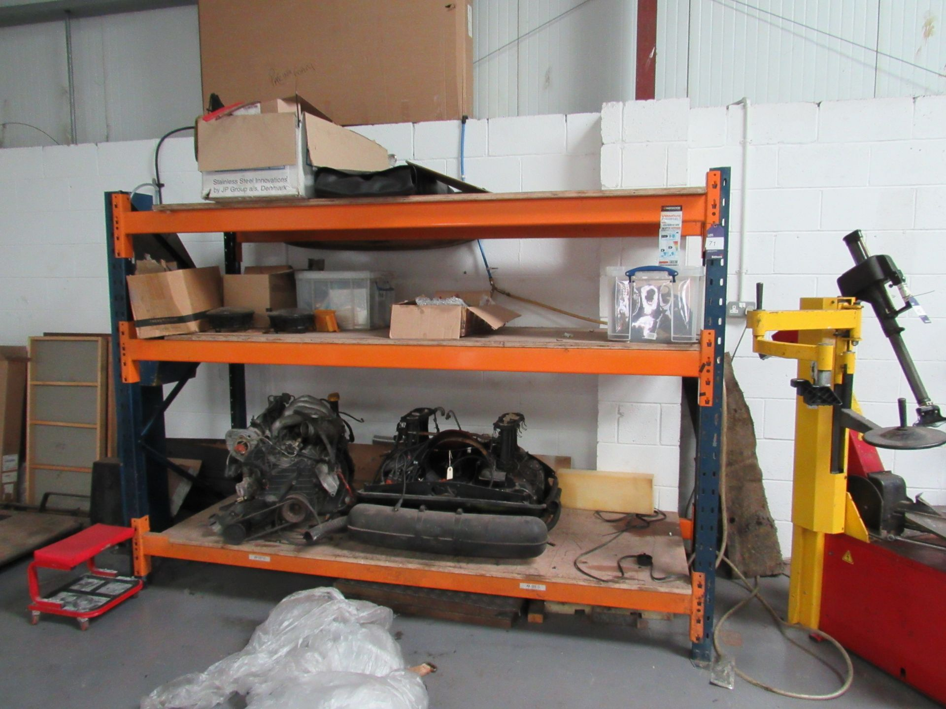 Lot 71 - 3 Tier Warehouse Rack, Contents not Included (Located at Unit 11)