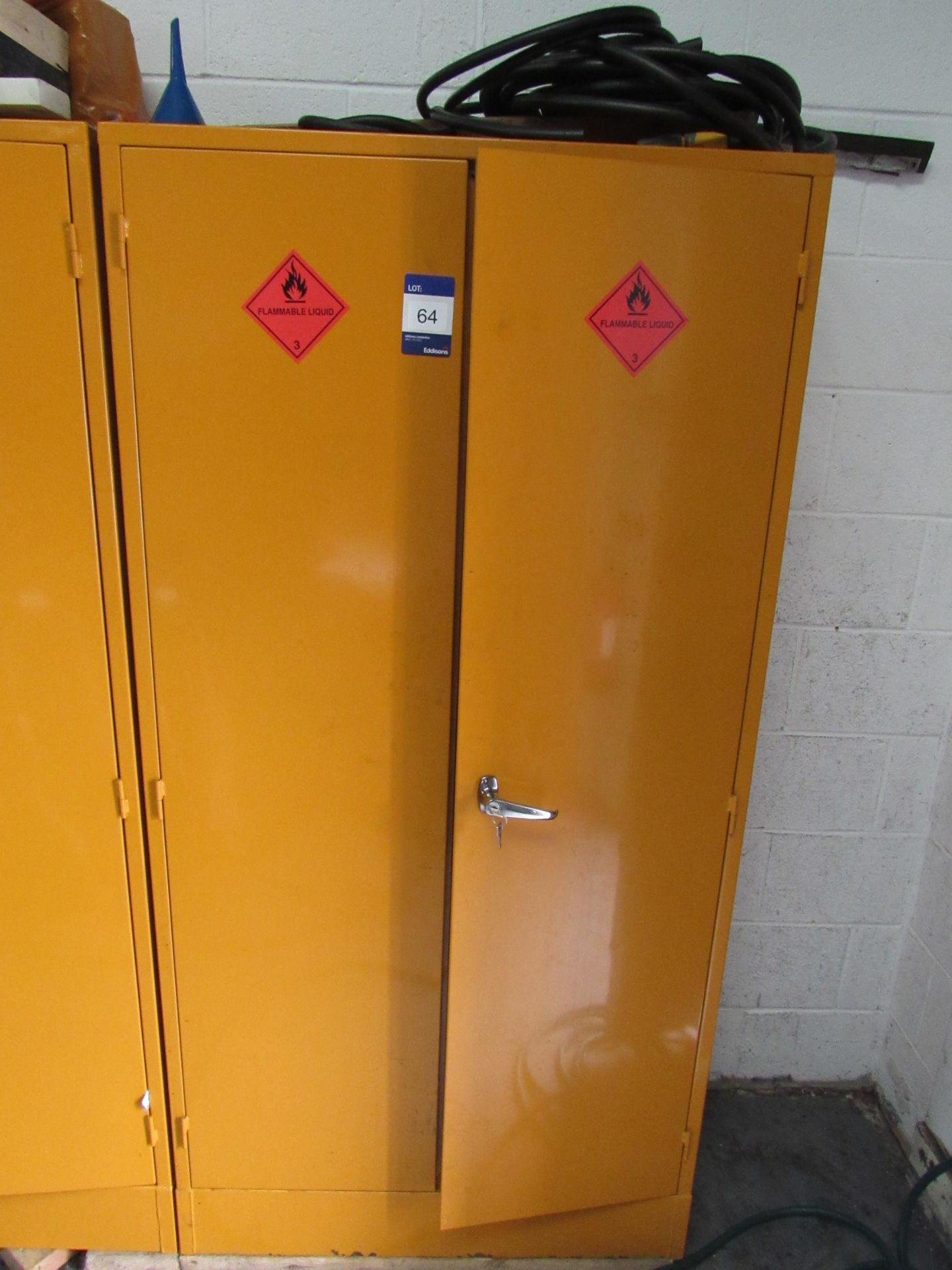 Lot 64 - Steel Flammables Cabinet and Contents (Located at Unit 11)