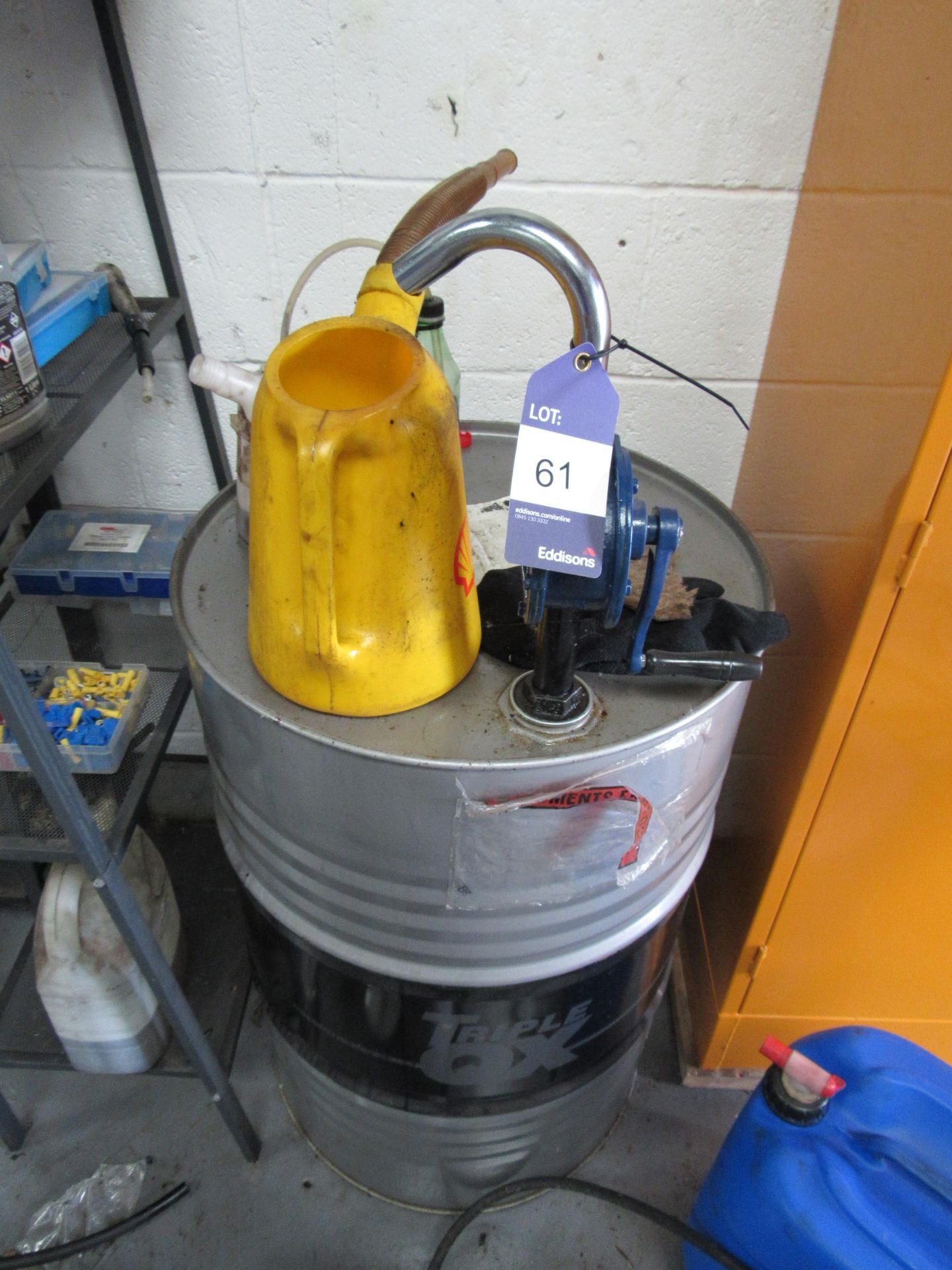 Lot 61 - Manual Oil Drum Pump and Remaining Contents (Located at Unit 11)