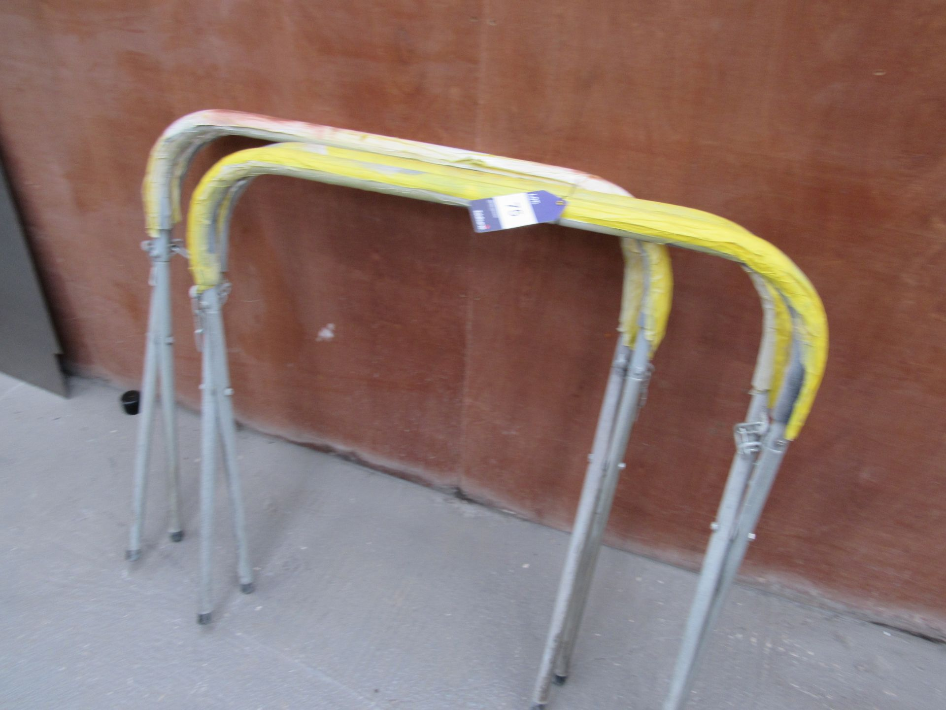 Lot 75 - 2 Steel Folding Trestles (Located at Unit 11)