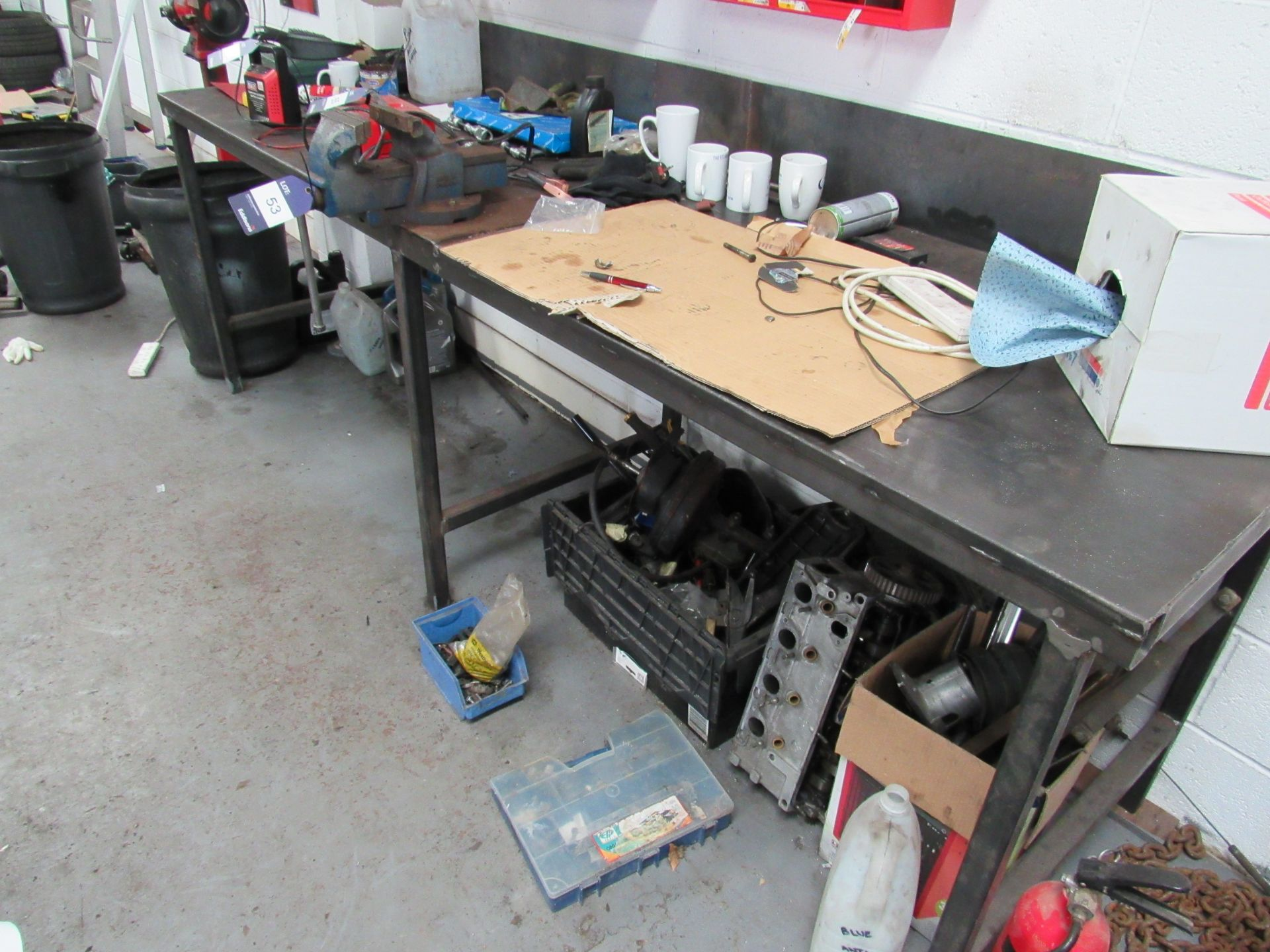 Lot 53 - Steel Workbench with 6in Engineers Vice (Located at Unit 11)