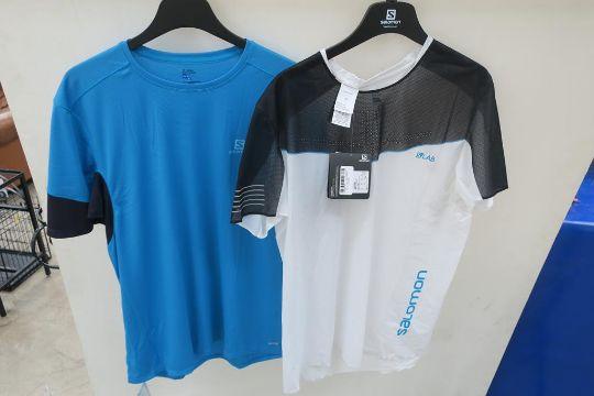 best loved f8913 bec24 A Salomon mens agile short sleeve Tee Shirt in Hawaiian Surf ...