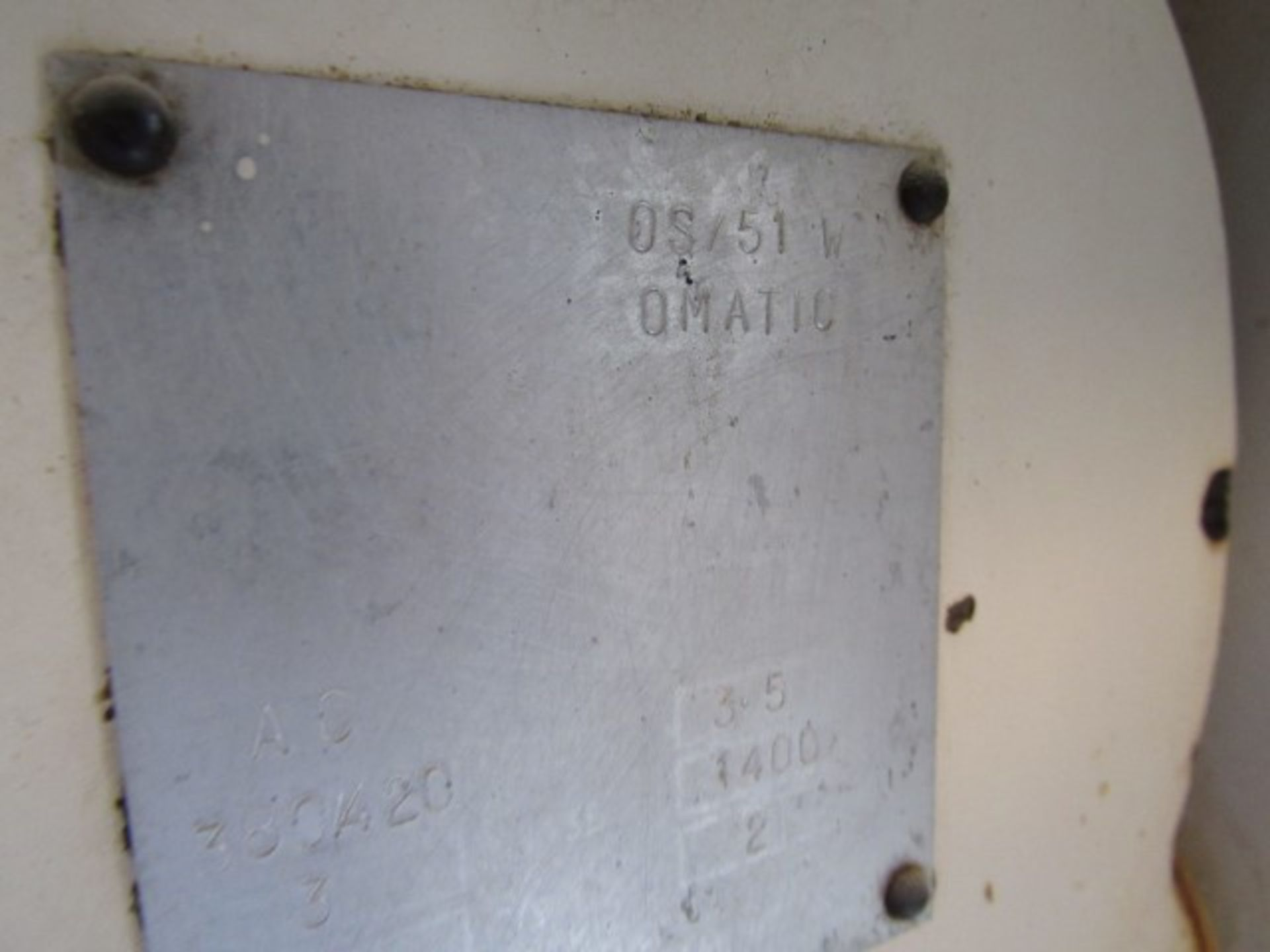 Lot 9 - Omatic Pie Machine 05 51W, 6 Station, No Filler