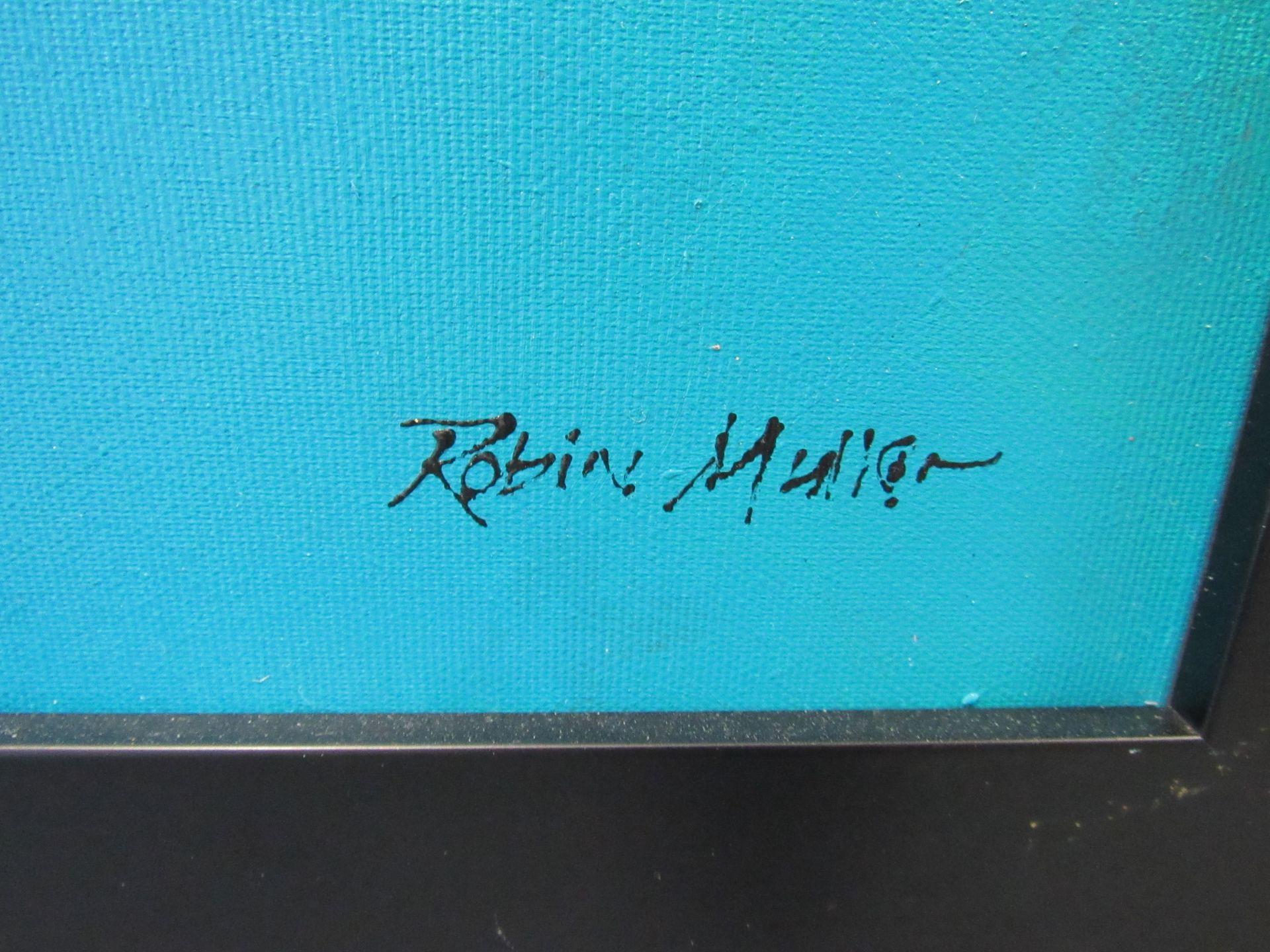 Lot 3 - Acrylic on Canvas, London Skyline, Signed Robin Mullen, 1500 x 750mm