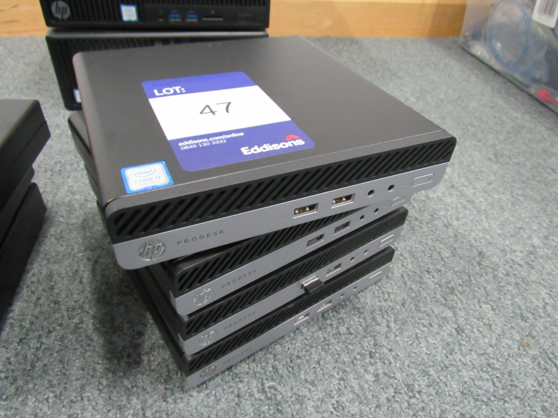 Lot 47 - 4 HP Pro Desk 400 G3 Desktop Mini PC's, No HDD's