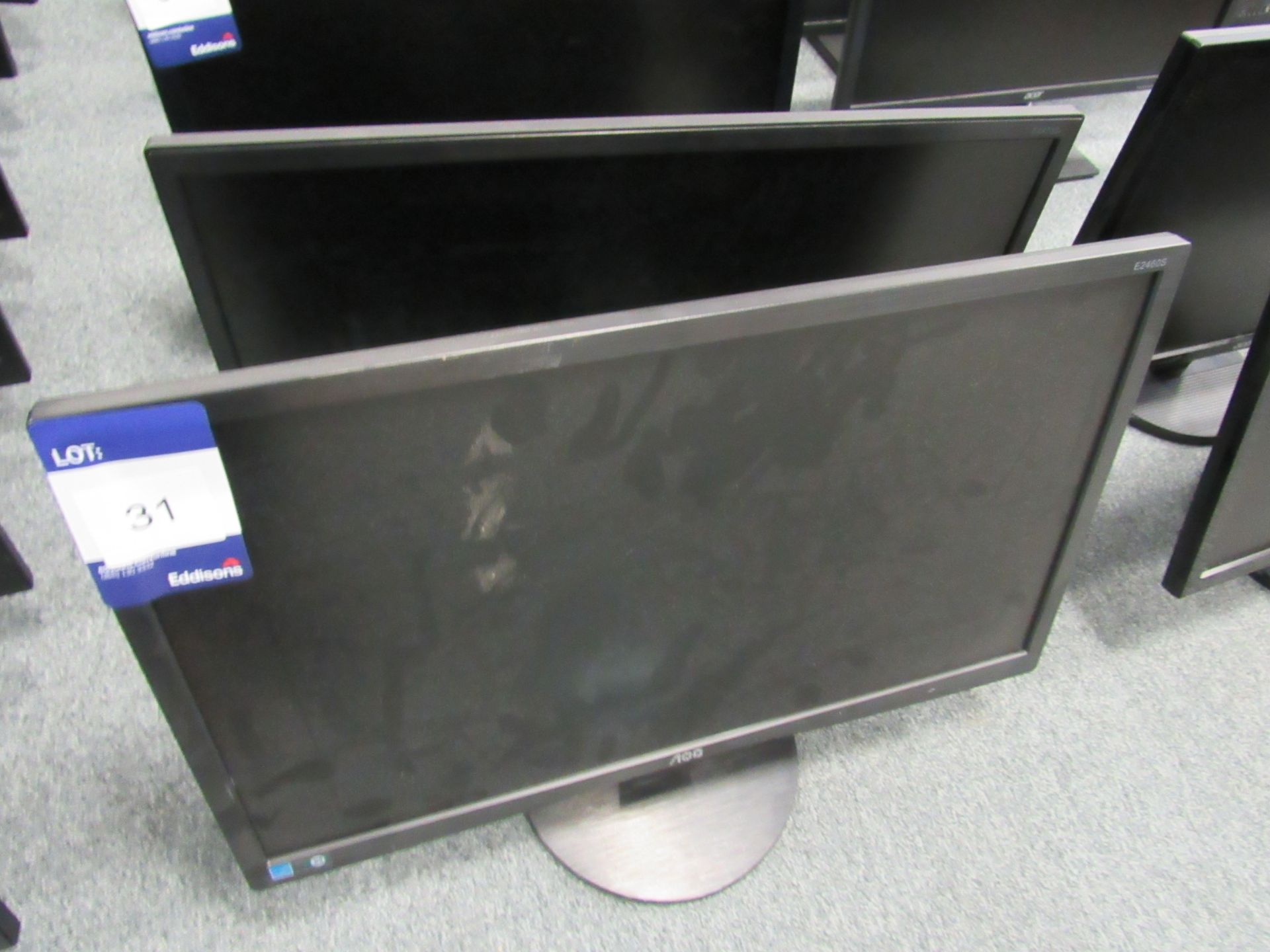 Lot 31 - 2 AOC E2460S Flat Screen Monitors
