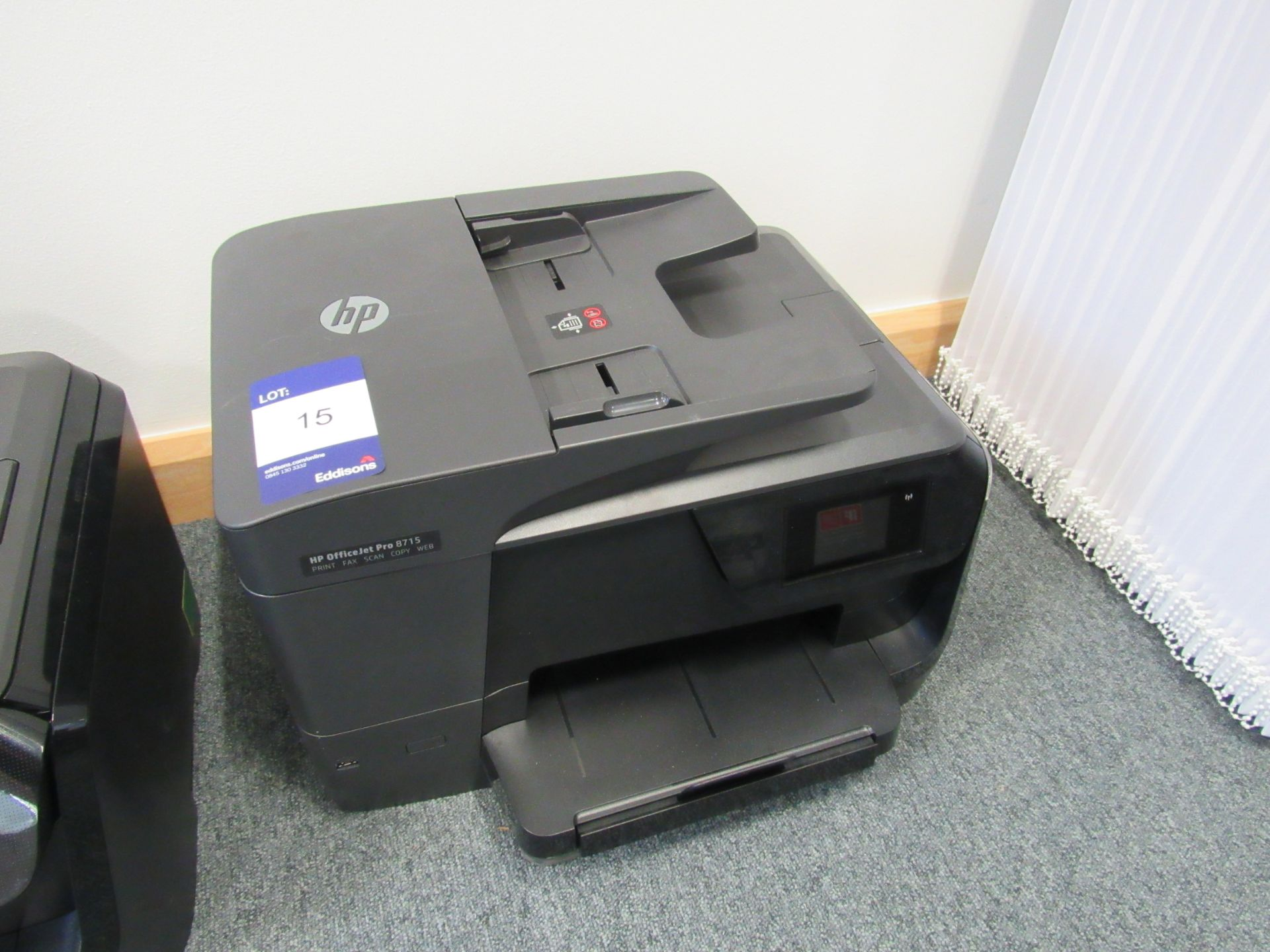 Lot 15 - HP Officejet Pro8715 All in One Printer/Fax/Scan/Copier