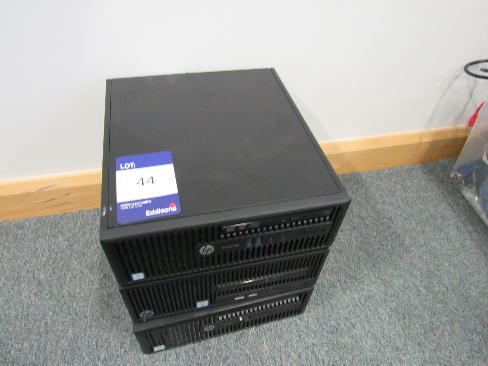 Lot 44 - 3 HP Pro Desk 400 G3 SFF Business PC, No HDD's