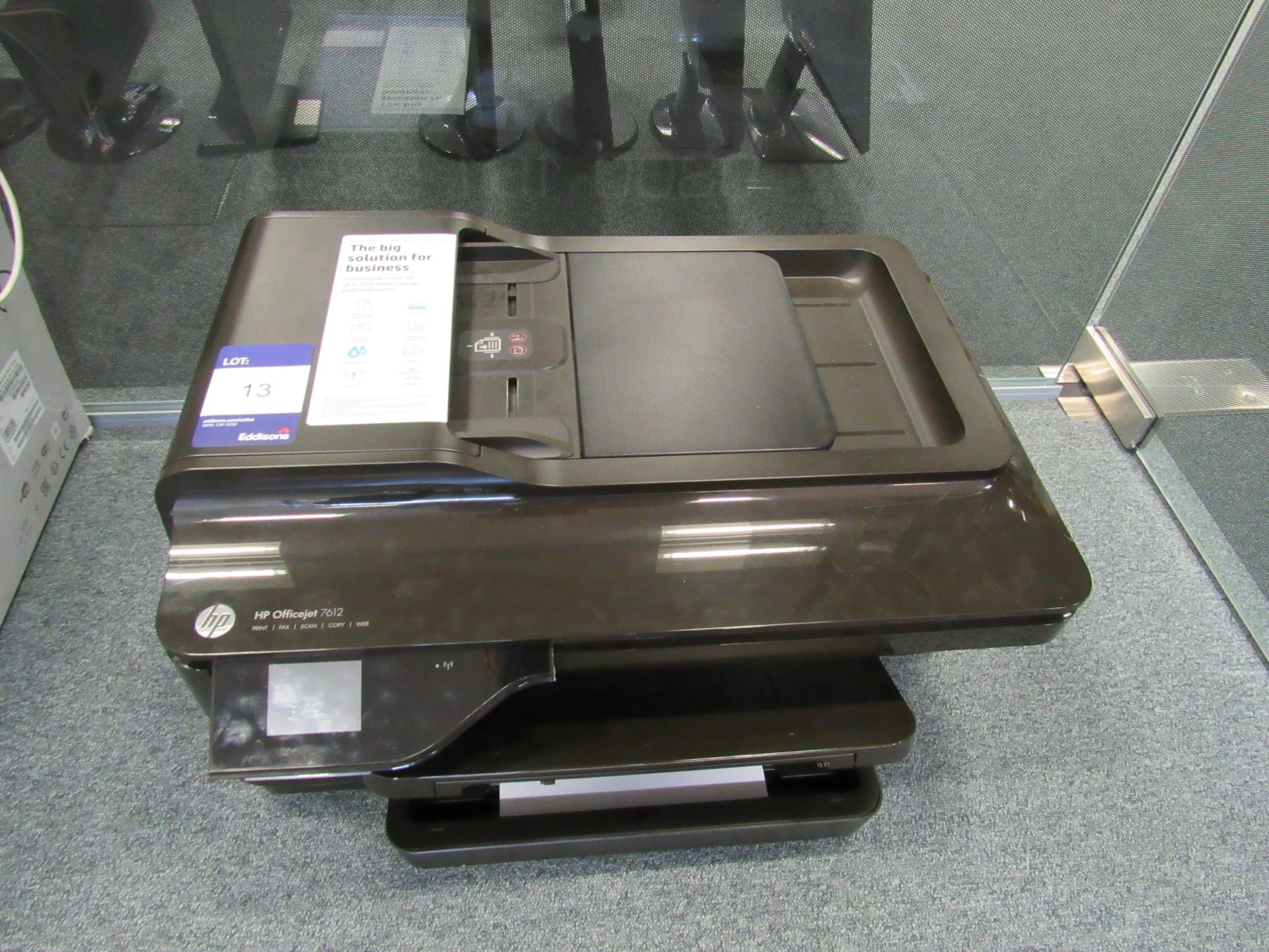 Lot 13 - HP Officejet 7612 All in One Printer/Fax/Scan/Copier