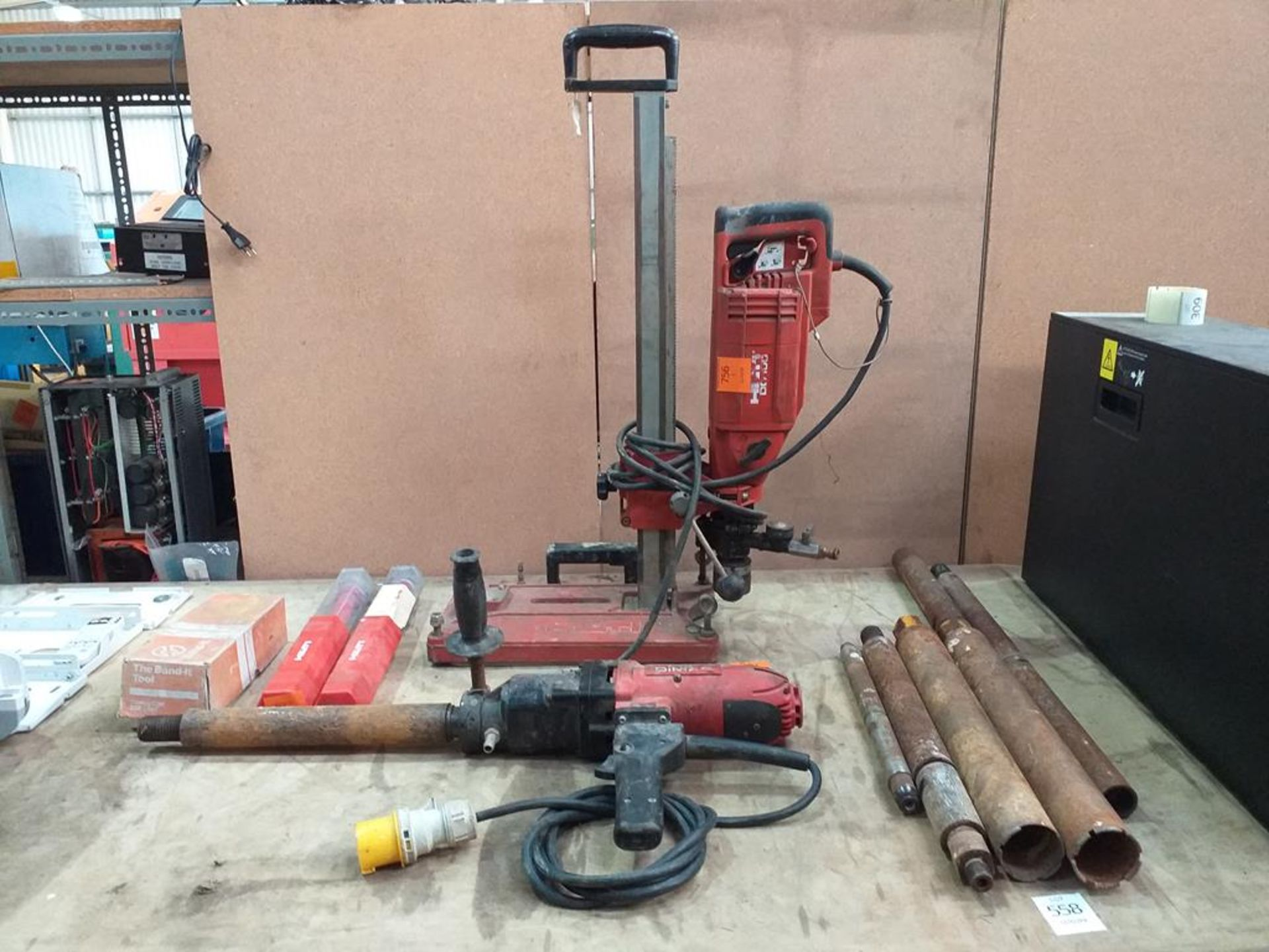 Lot 558 - A Selection of Hilti Core Drills and Accessories