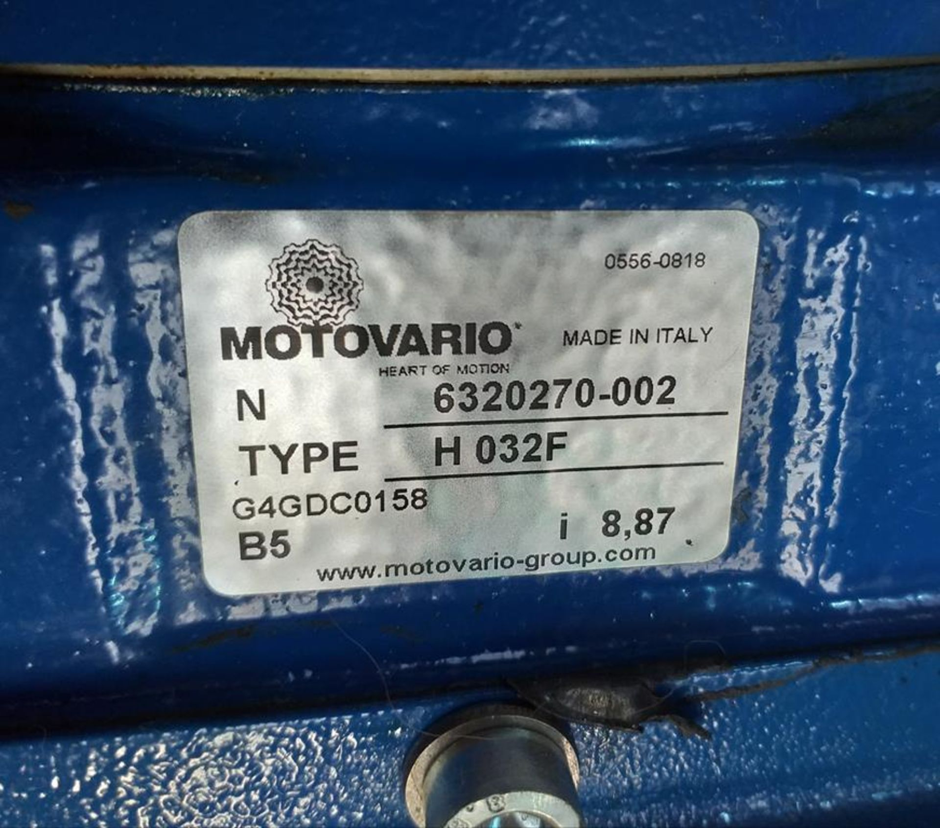 Lot 65 - Motovario HFO32 PAM24/200 8.861/1 Ref:GD Gearbox