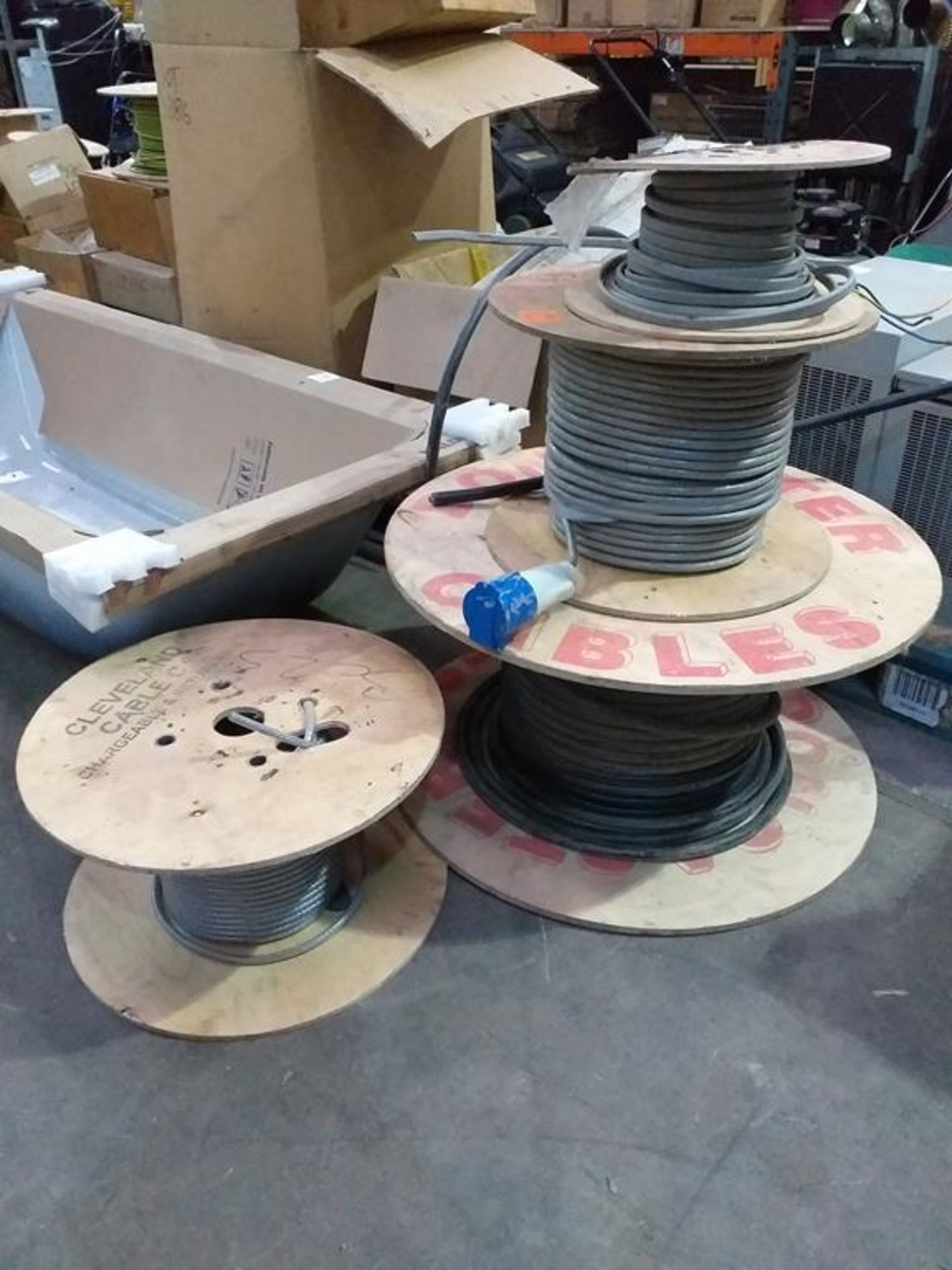 Lot 208 - Rolls of Braided and Non-Braided Multi-Core Wire
