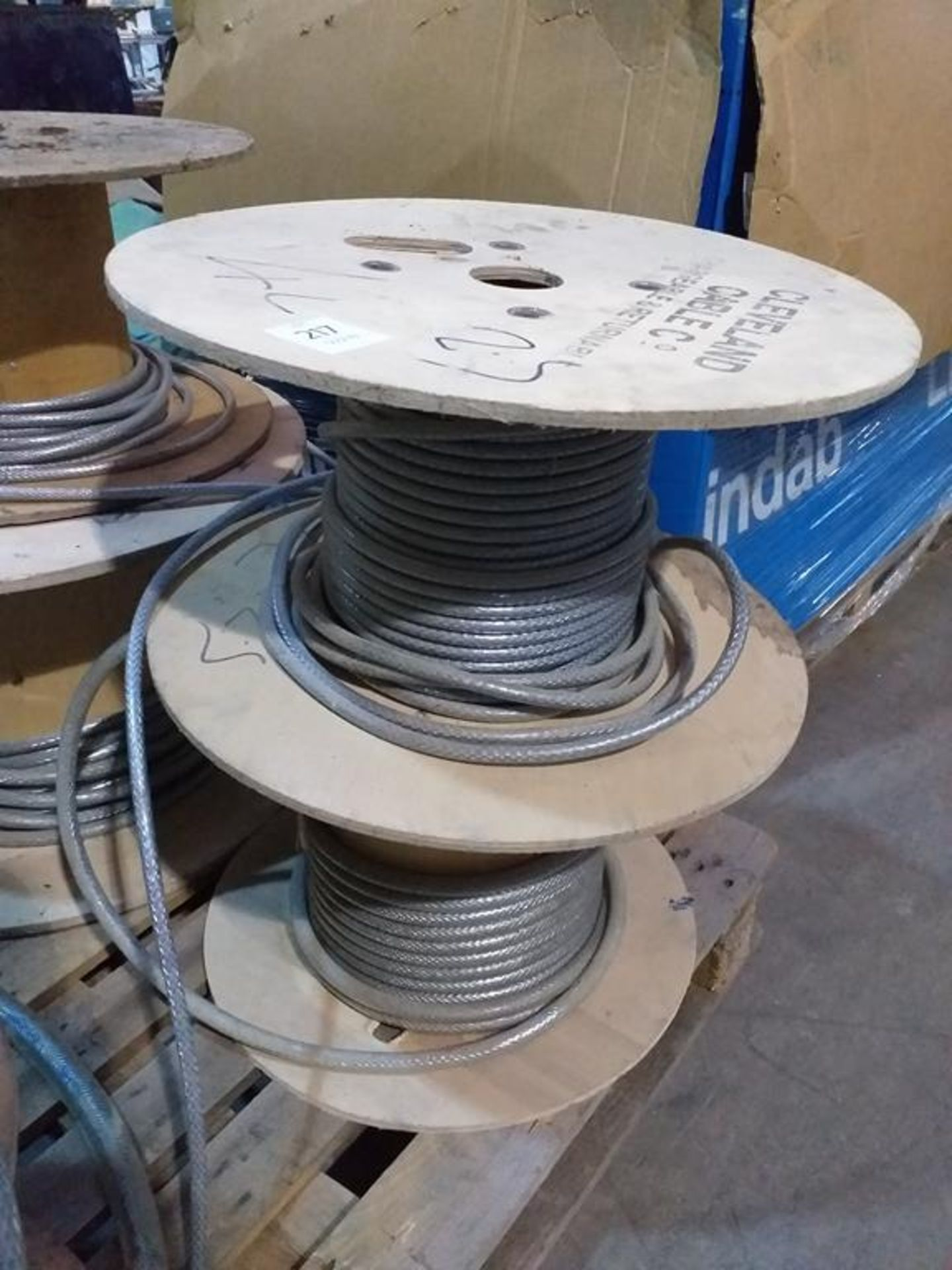 Lot 217 - Part Rolls of Braided Wire
