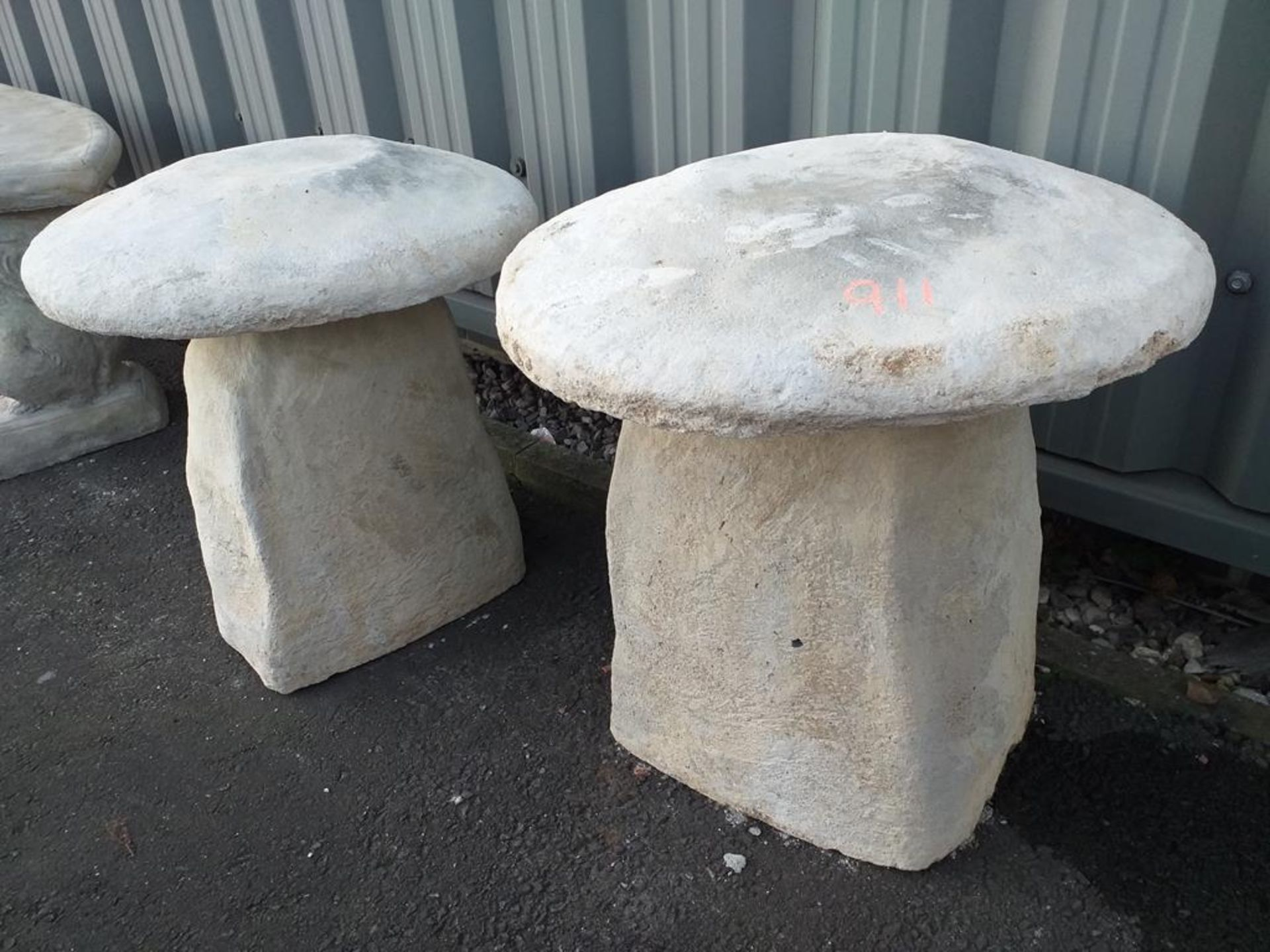 Lot 911 - 2 x Staddle Stones