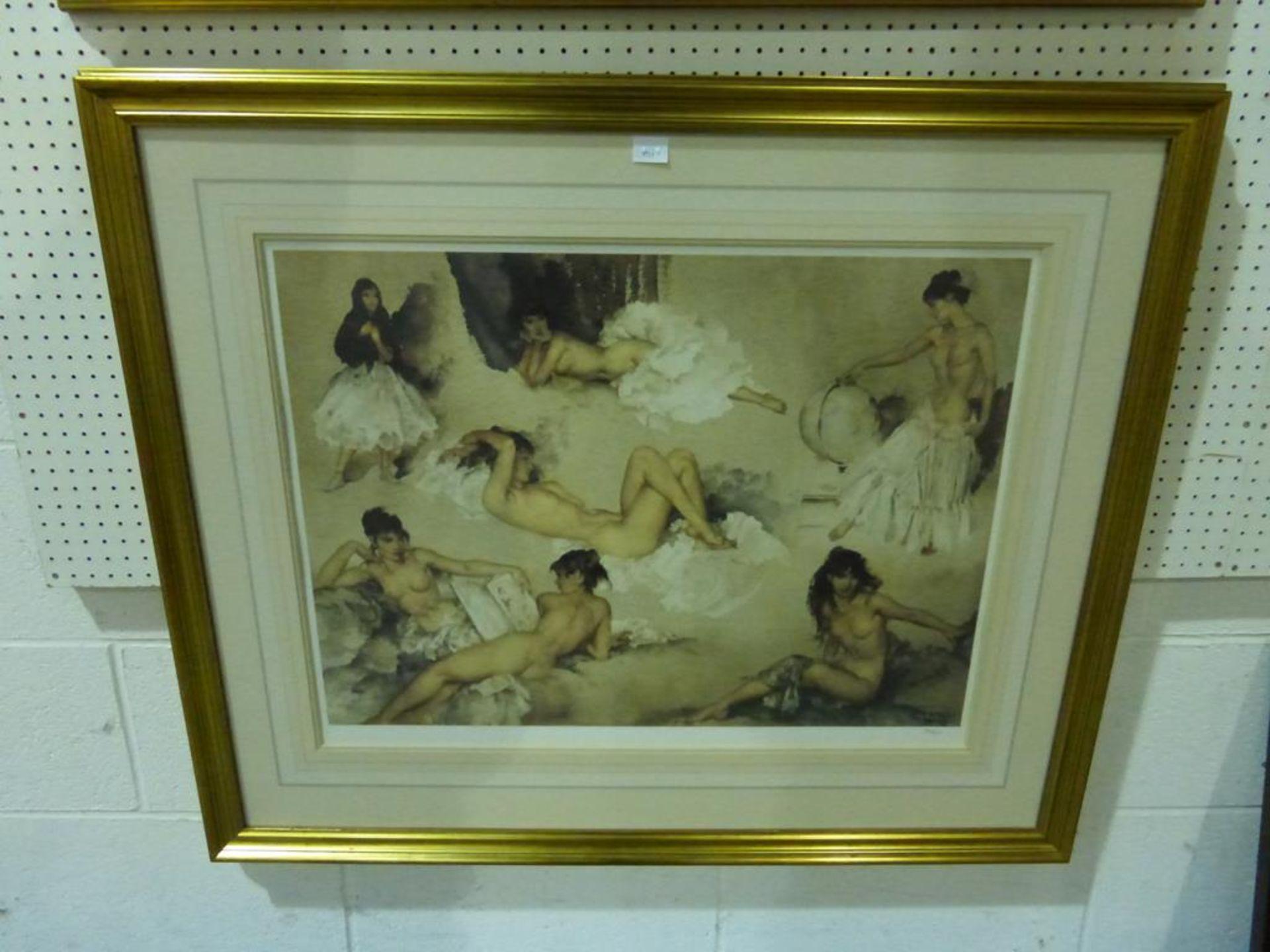 Lot 1711 - A Sir William Russell Flint Print 'Gypsy Ladies (?)'