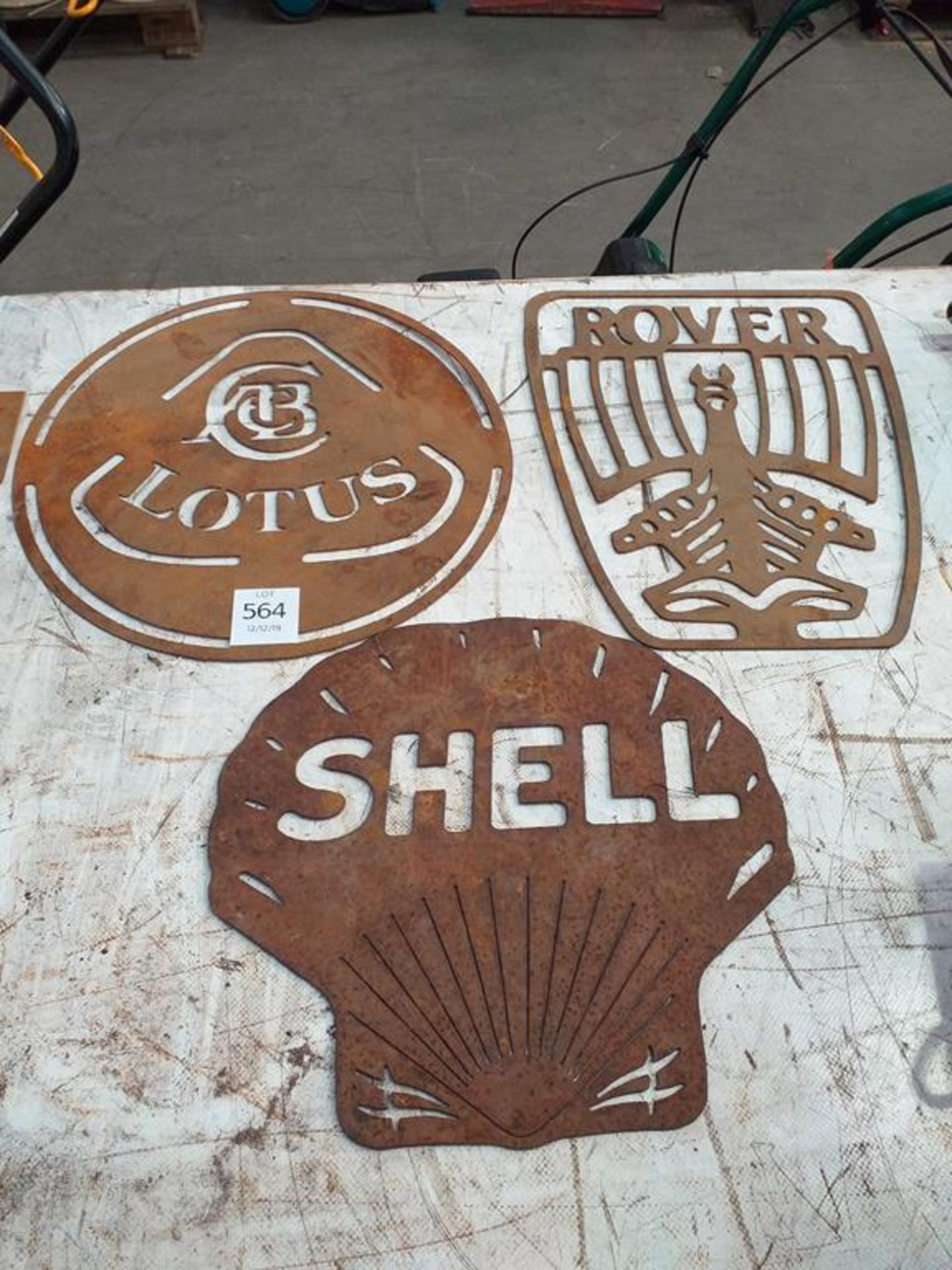 Lot 564 - Vehicle and Oil Related Signs