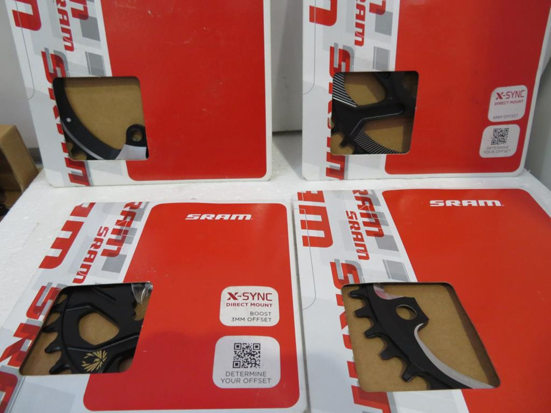 Lot 45 - ox of Sram Chainrings and Centerline Brake Discs