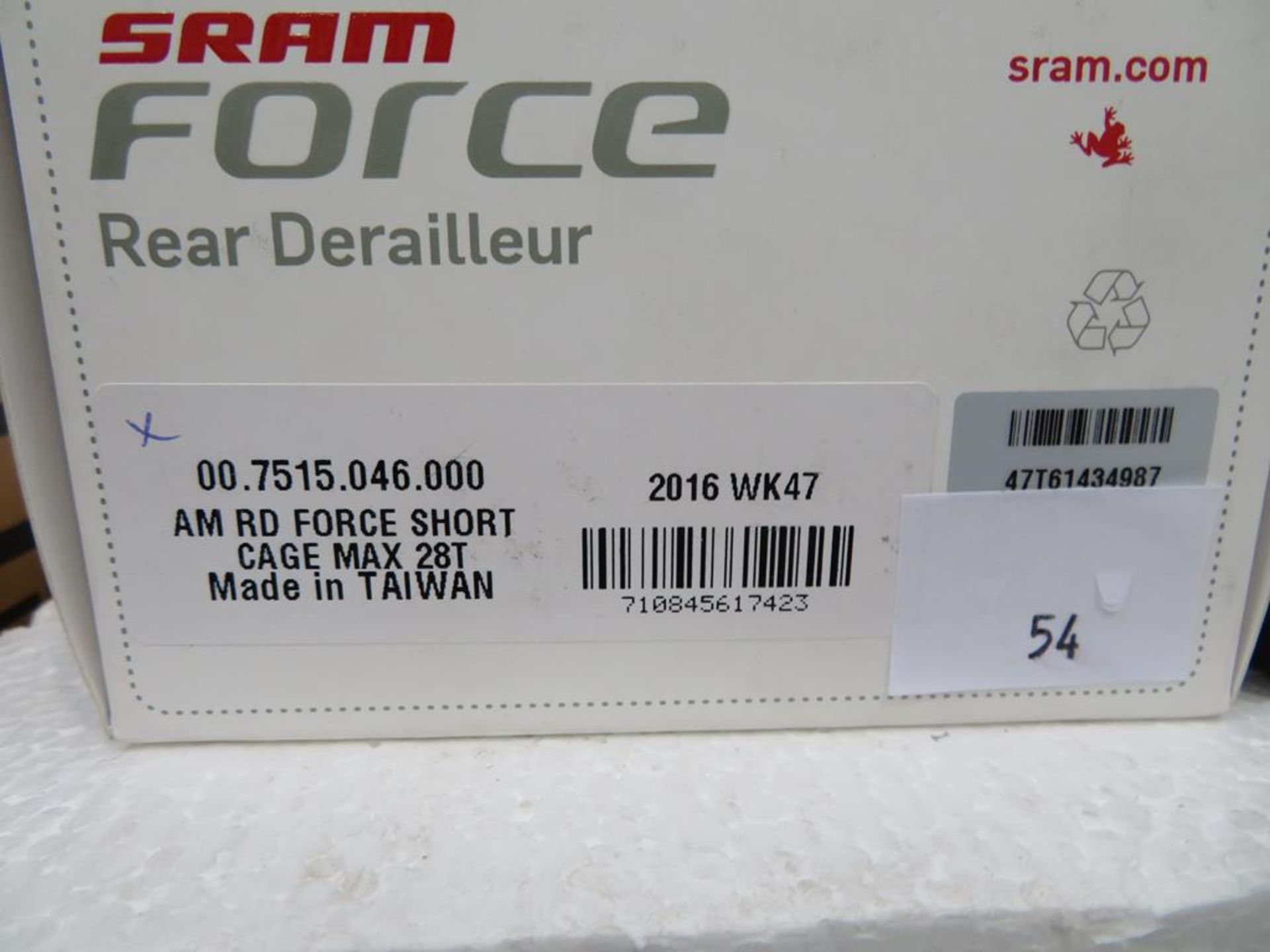Lot 54 - Sram Force Short Cage Rear Derailleur and Sram Force 22 Short Cage Rear Derailleur