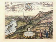 Georgius Hoefnagle: Prospect der Stadt Landshut. Abdruck frühes 20. Jh., nach Vorlage 1578.