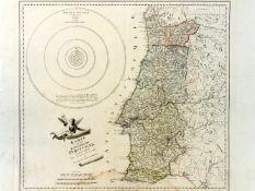 REILLY, Franz Johann Joseph von, 1760-1820: Karte von dem Königreiche Portugal, koloriert, mit