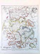 """Stahlstich Karte: A. Mädel nach Gotthard, """"Herzogthum Schleswig 1852"""".Stahlstich mit altem"""