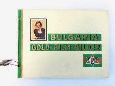 Bulgaria-Gold-Film-Bilder. Zigarettenbilderalbum. Komplett. 1933.Dresden, Bulgaria Zigarettenfabrik,