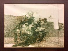 """Claude Weisbuch (Thionville 1927 - 2014 Paris): """"Der Augenblick"""". Lithografie auf Bütten. Ohne"""