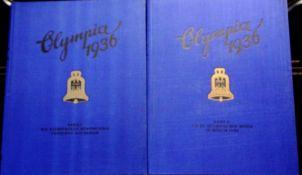 Olympia 1936 in zwei Bänden: Die olympischen Winterspiele - Vorschau auf Berlin u. Die XI